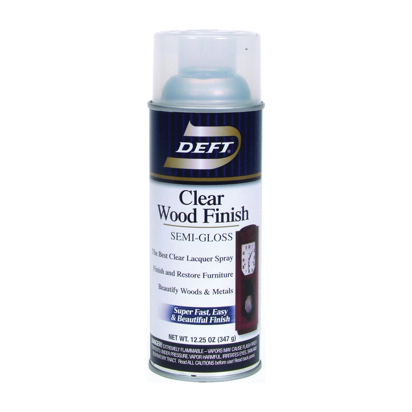 Picture of DEFT 011-13 Brushing Lacquer, Semi-Gloss, Liquid, Clear, 12 oz, Aerosol Can