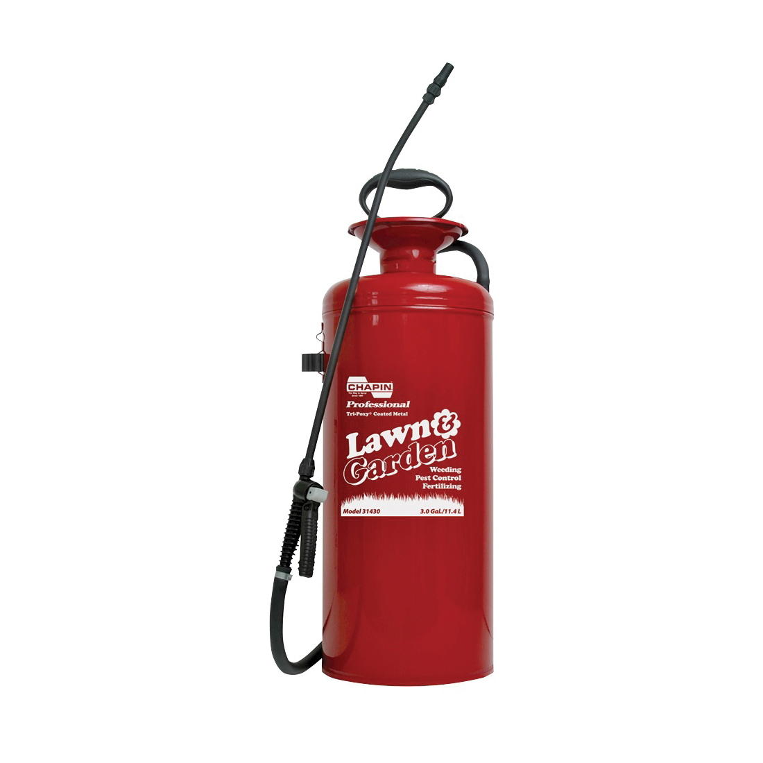 Picture of CHAPIN Lawn & Garden Series 31430 Compression Sprayer, 3 gal Tank, Steel Tank, 42 in L Hose