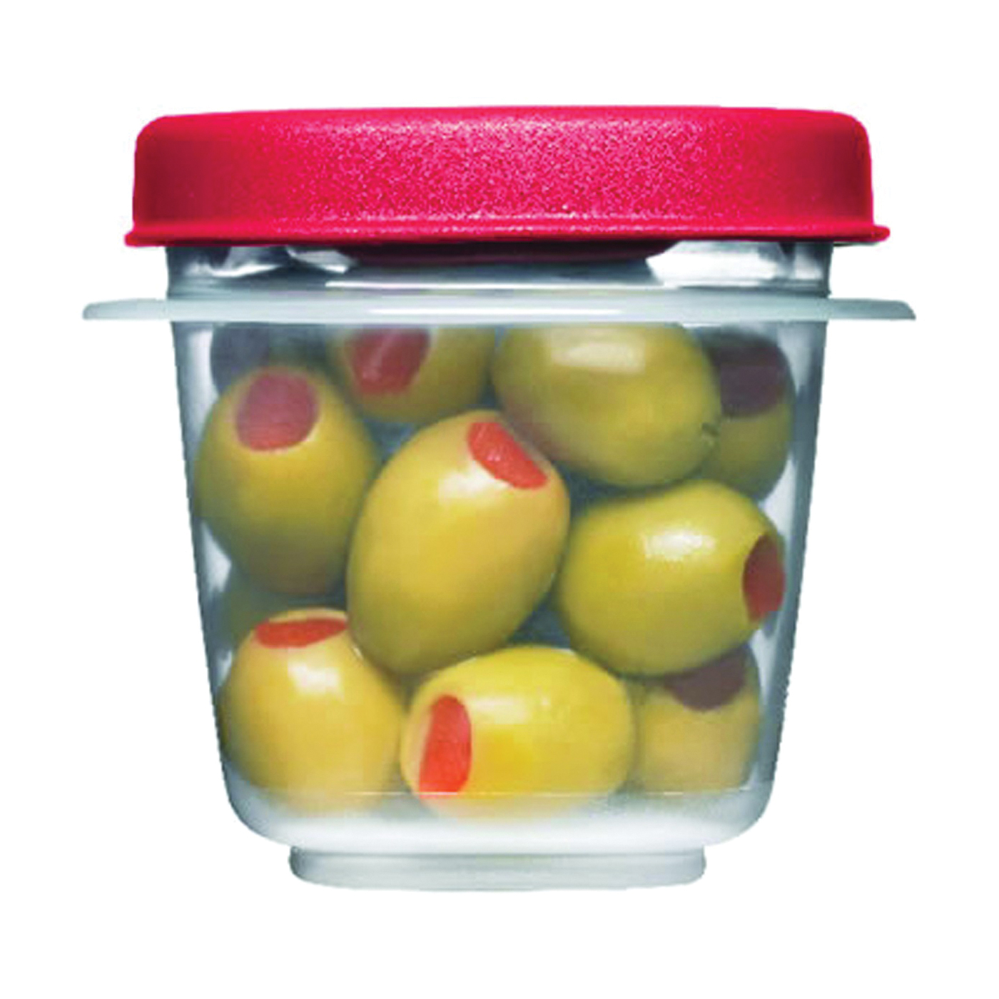 Picture of Rubbermaid 1776477 Food Storage Container, 0.5 Cup Capacity, Plastic, Clear, 3.2 in L, 6.4 in W, 2.6 in H