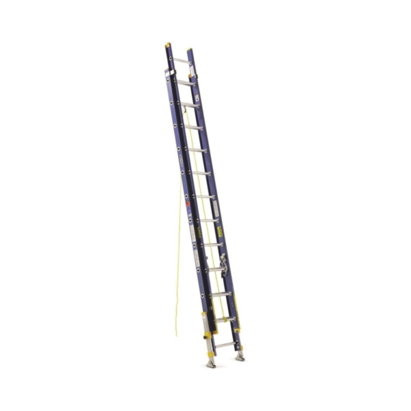 Picture of WERNER D8224-2EQ Extension Ladder, 23 ft H Reach, 300 lb, Fiberglass