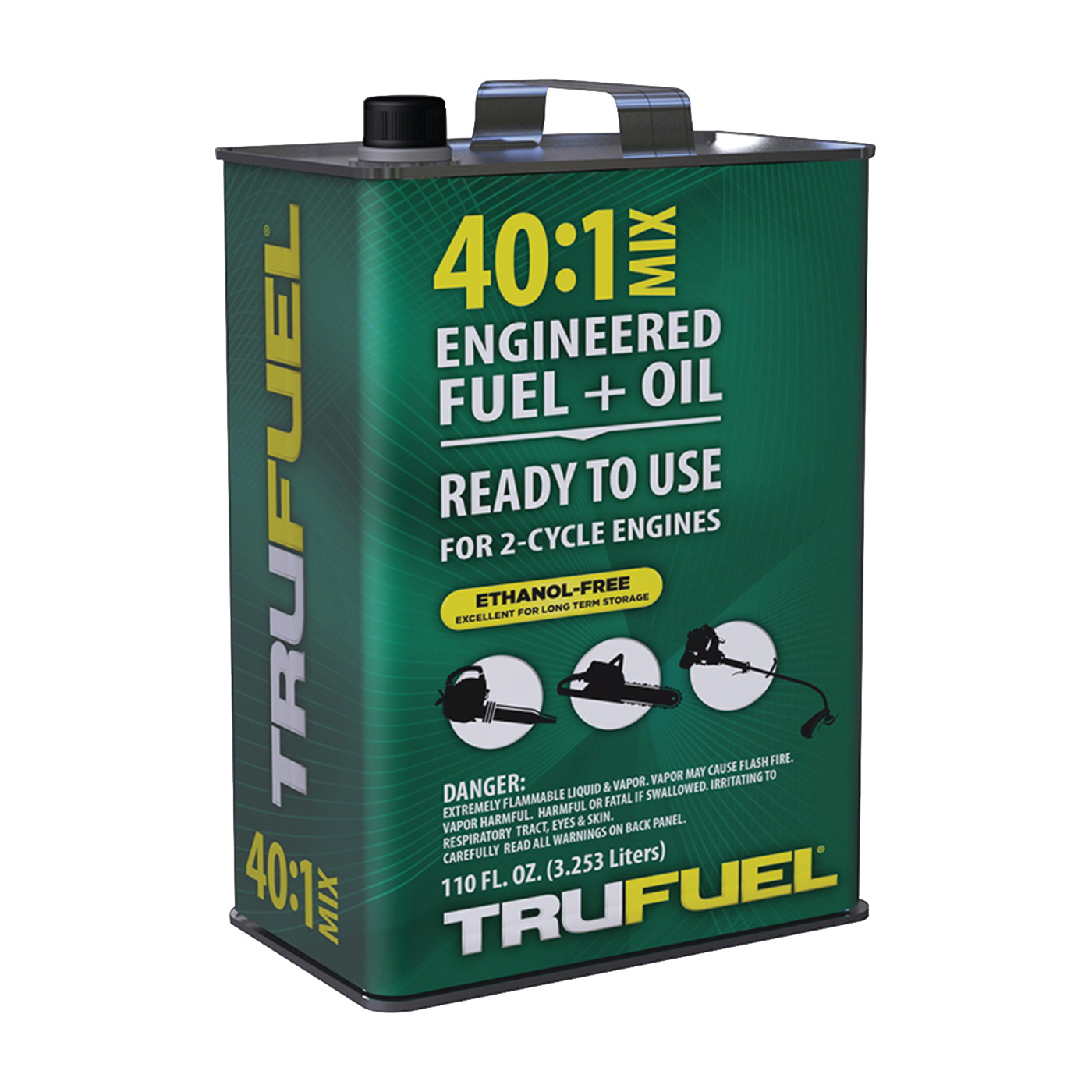 Picture of TRUFUEL 6525506 Pre-Mixed Fuel, Liquid, Hydrocarbon, Green, 110 oz Package, Can