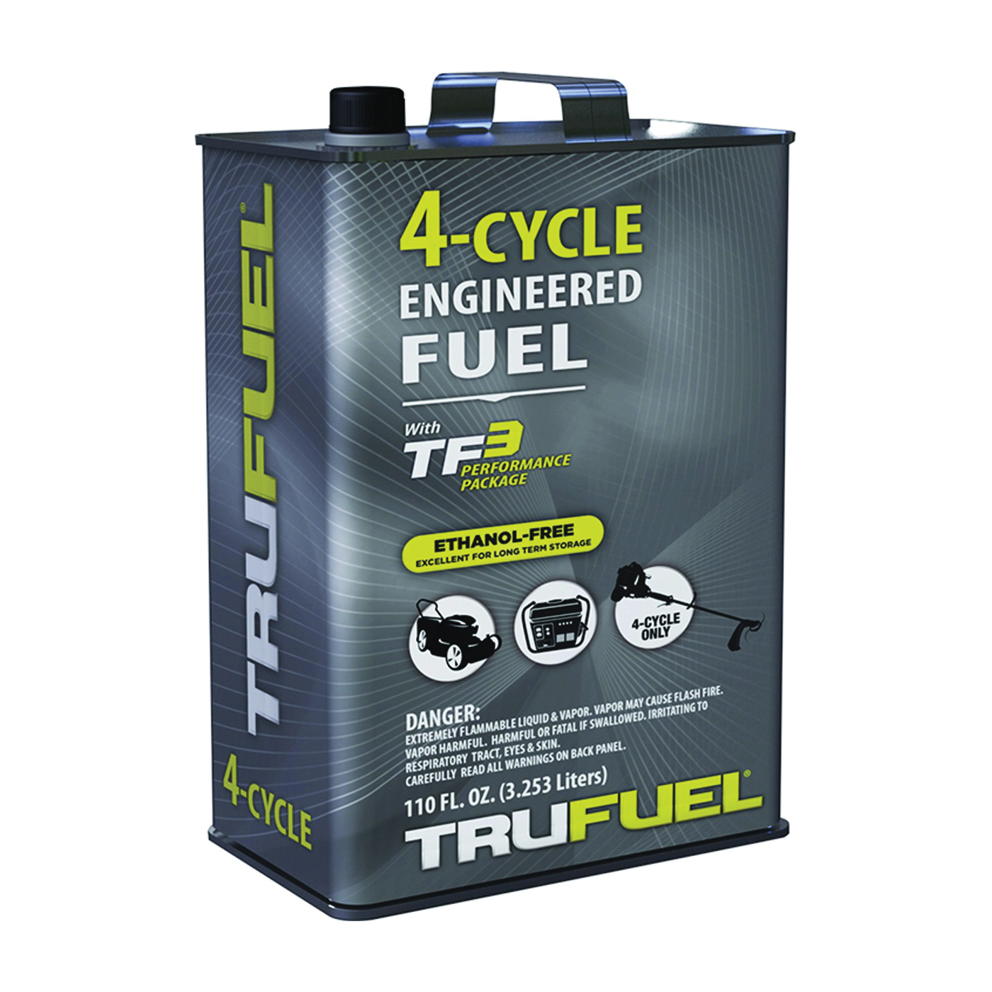 Picture of TRUFUEL 6527206 4-Cycle Fuel, Liquid, Hydrocarbon, Clear, 110 oz Package, Can