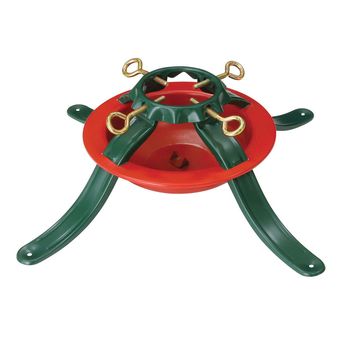 Picture of Holidaybasix 5164 Natural Tree Stand, Steel, Green/Red, Powder-Coated