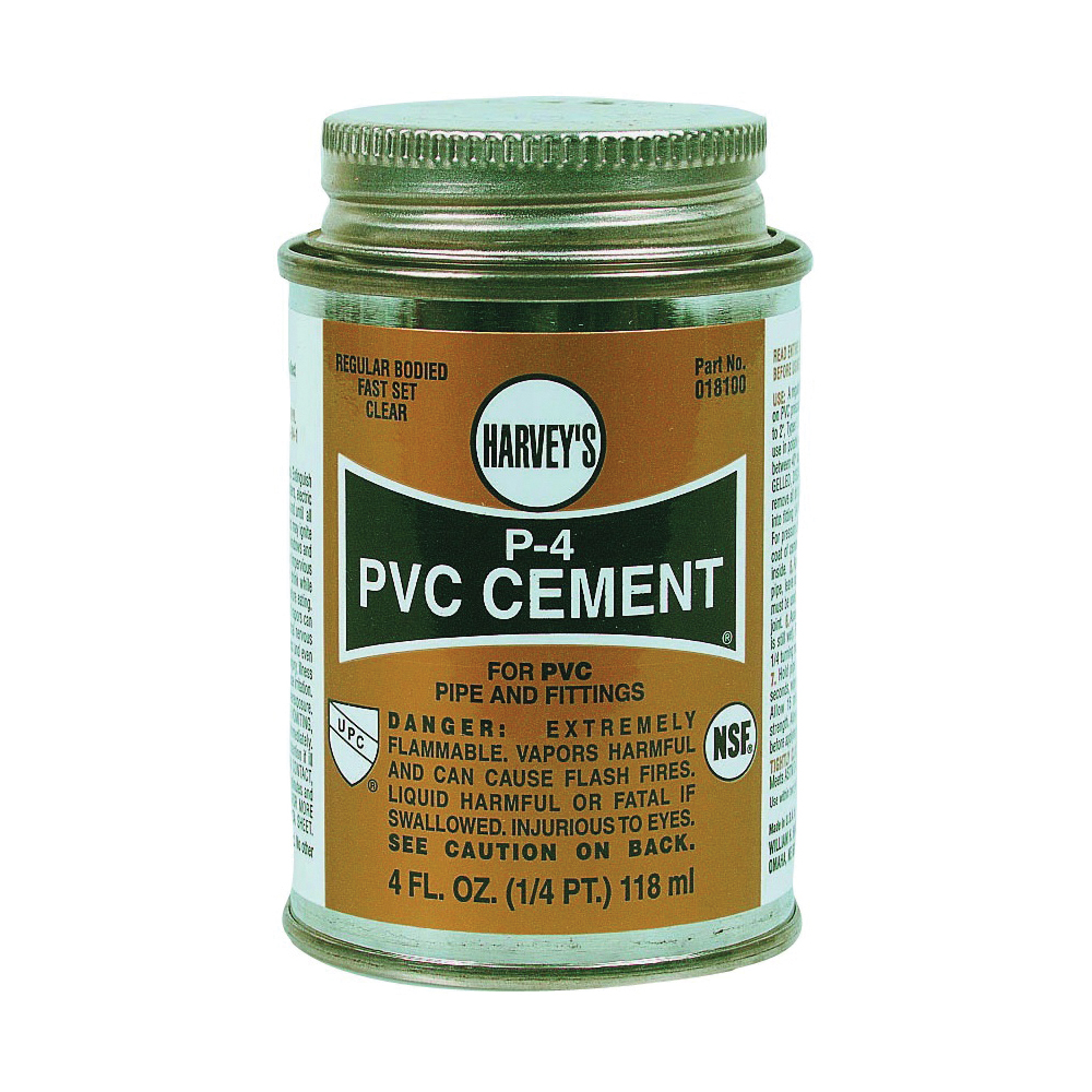 Picture of HARVEY 018100-24 Solvent Cement, 4 oz, Can, Liquid, Clear