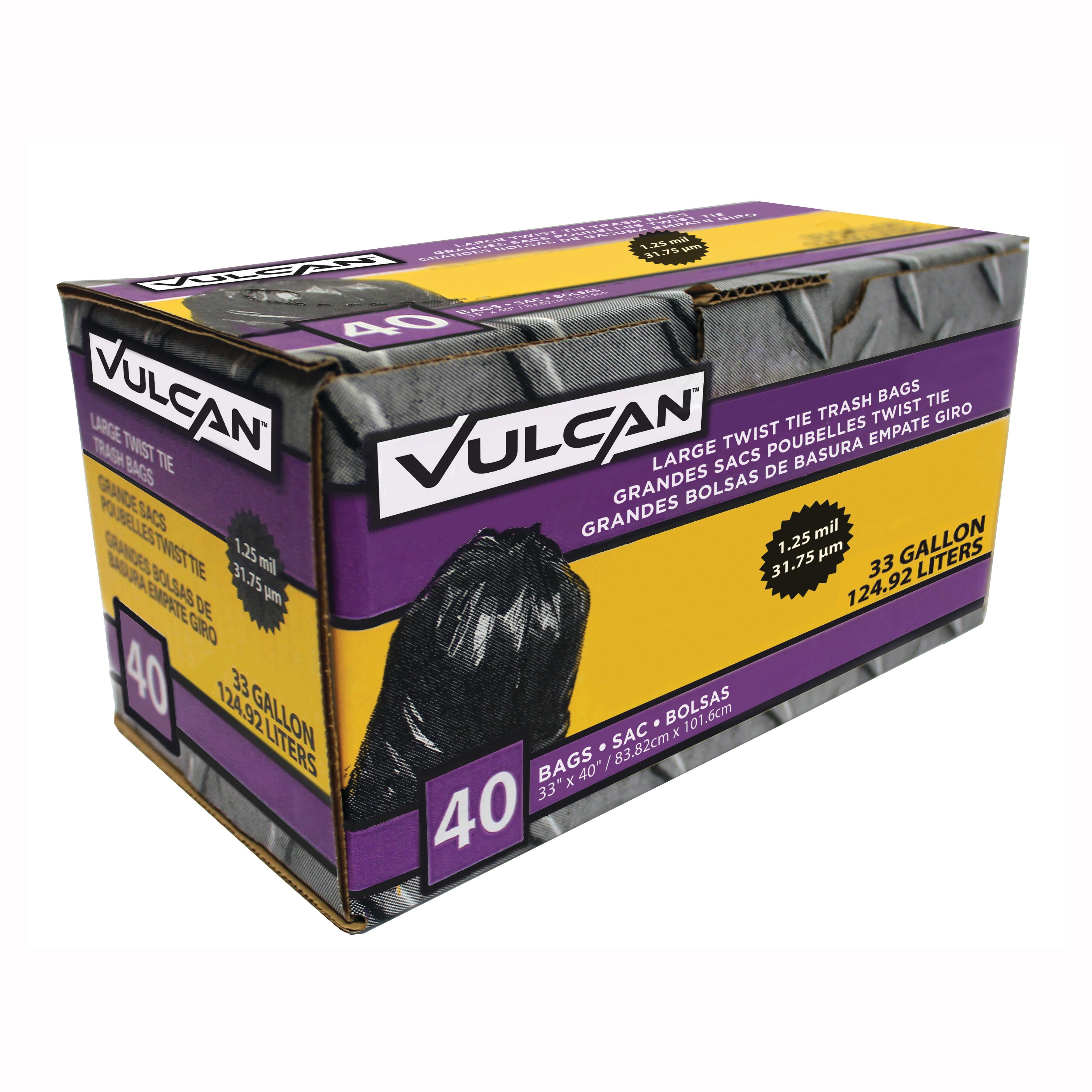 Picture of VULCAN FG-03812-11 Trash Bag, 33 gal Capacity, Black