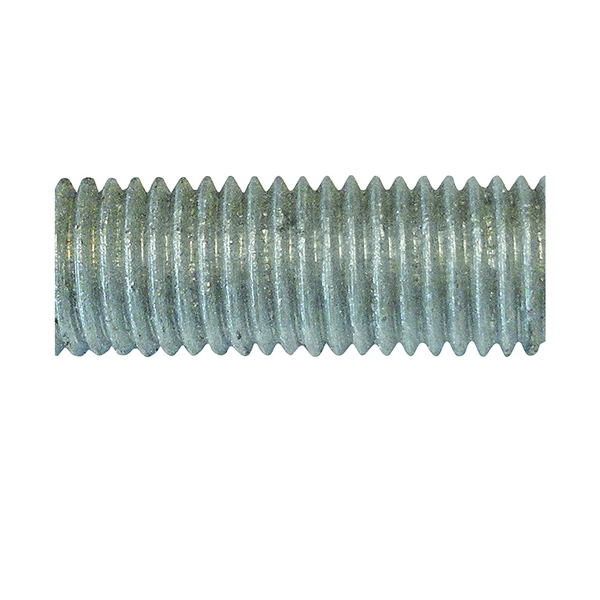 Picture of PFC 770051-BR Threaded Rod, 1/2-13 in Thread, 3 ft L, A Grade, Carbon Steel, Galvanized, NC Thread