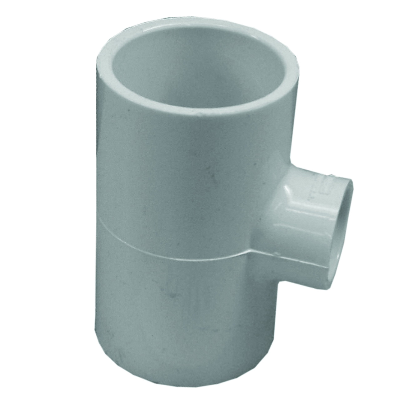 Picture of GENOVA 300 Series 31495 Pipe Reducing Tee, 1-1/2 in Run, Slip Run Connection, 1 in Branch, White