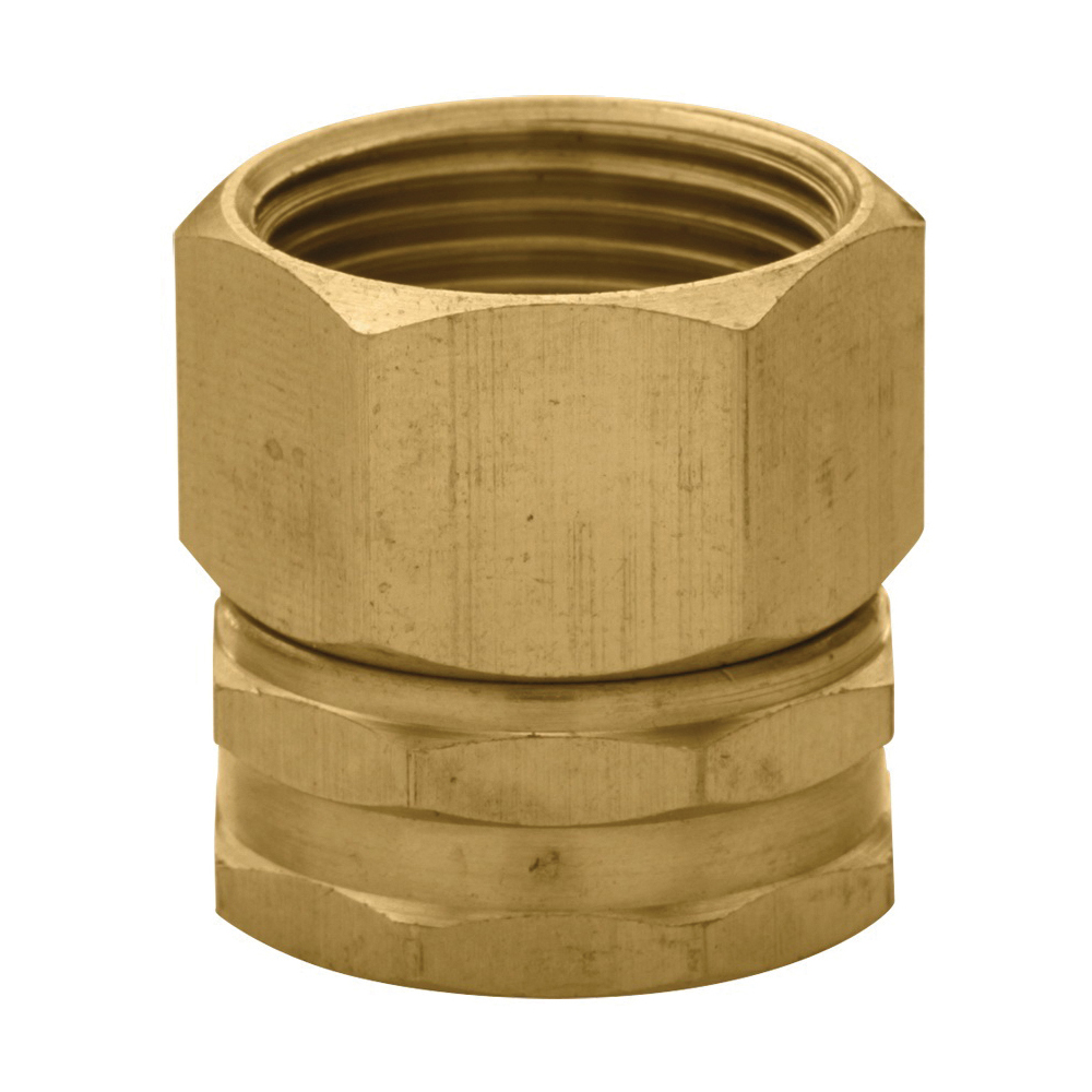 Picture of Orbit 53036 Hose to Pipe Adapter, 3/4 x 3/4 in, FHT x FNPT, Brass