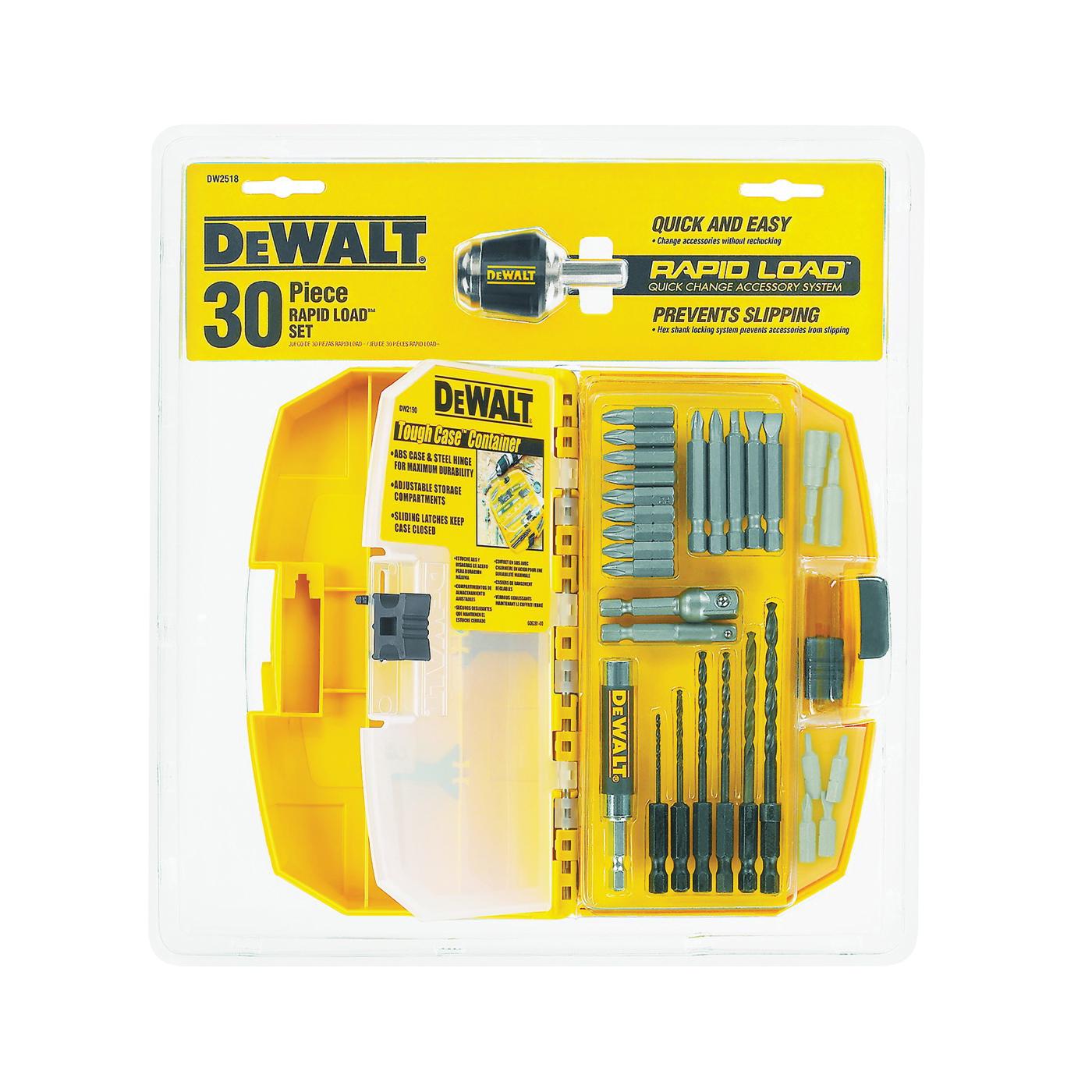 Picture of DeWALT DW2518 Drill Bit Set, Quick-Change, 30 -Piece, Steel