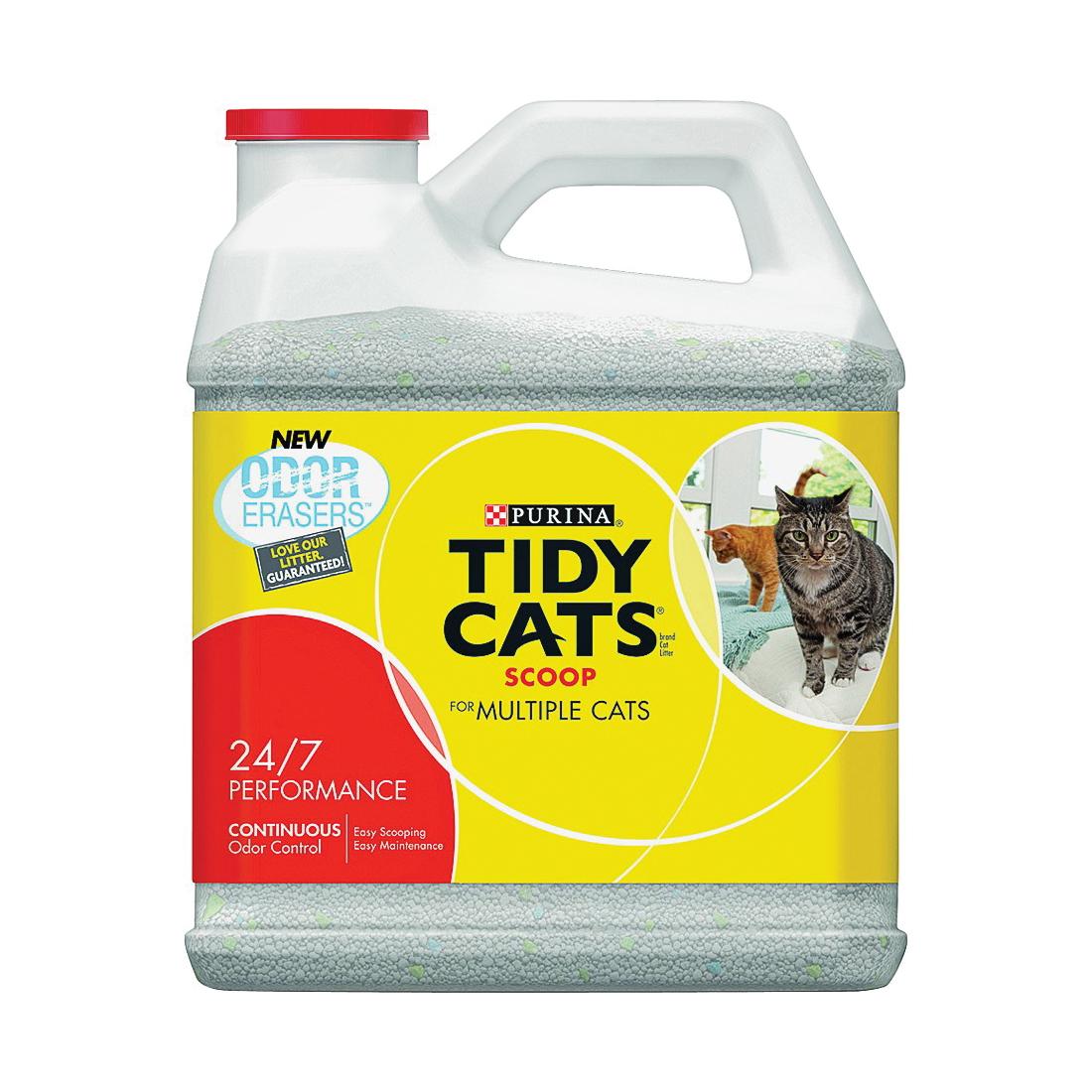 Picture of Tidy Cats 7023011614 Cat Litter, 14 lb Capacity, Gray/Tan, Granular, Jug