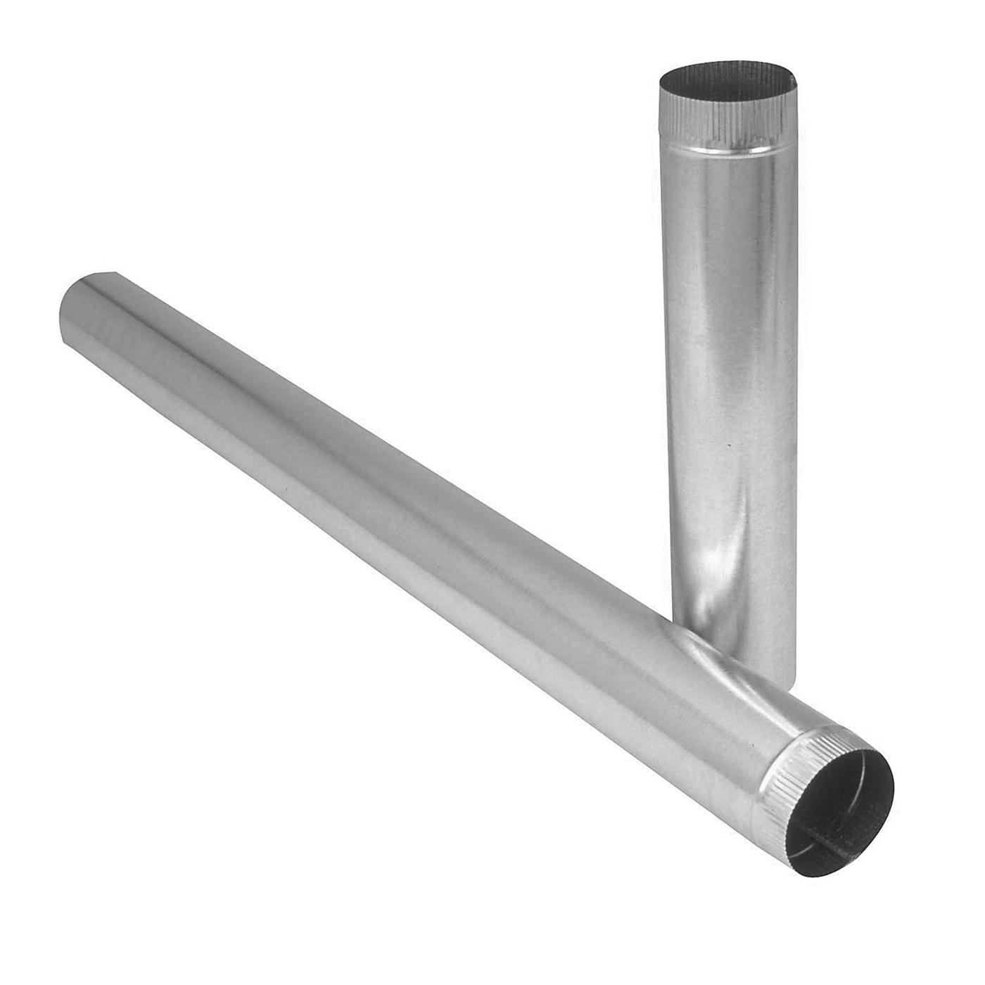 Picture of Imperial GV1604 Duct Pipe, 3 in Dia, 24 in L, 26 Gauge, Galvanized Steel, Galvanized