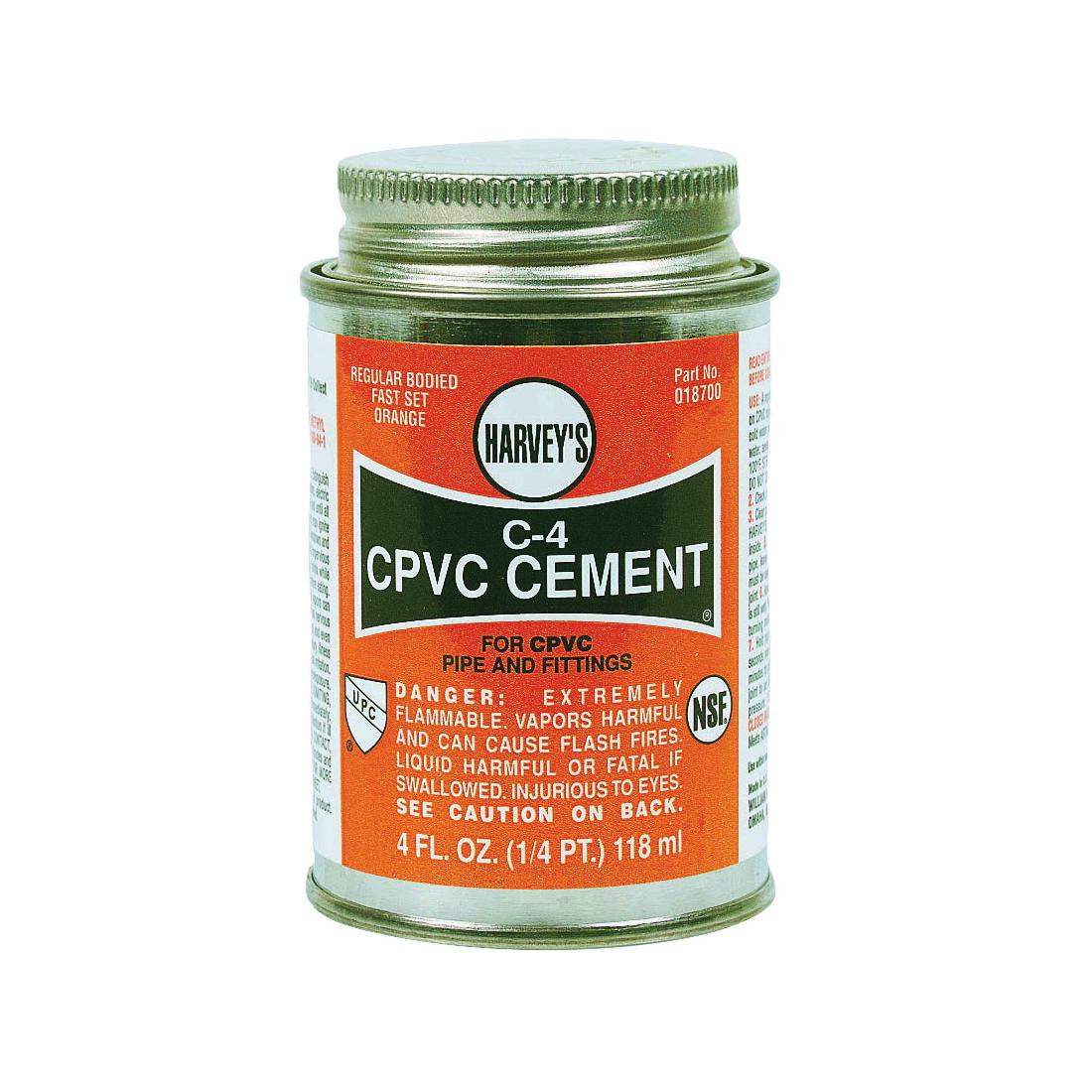 Picture of HARVEY 018700-24 Solvent Cement, 4 oz, Can, Liquid, Orange