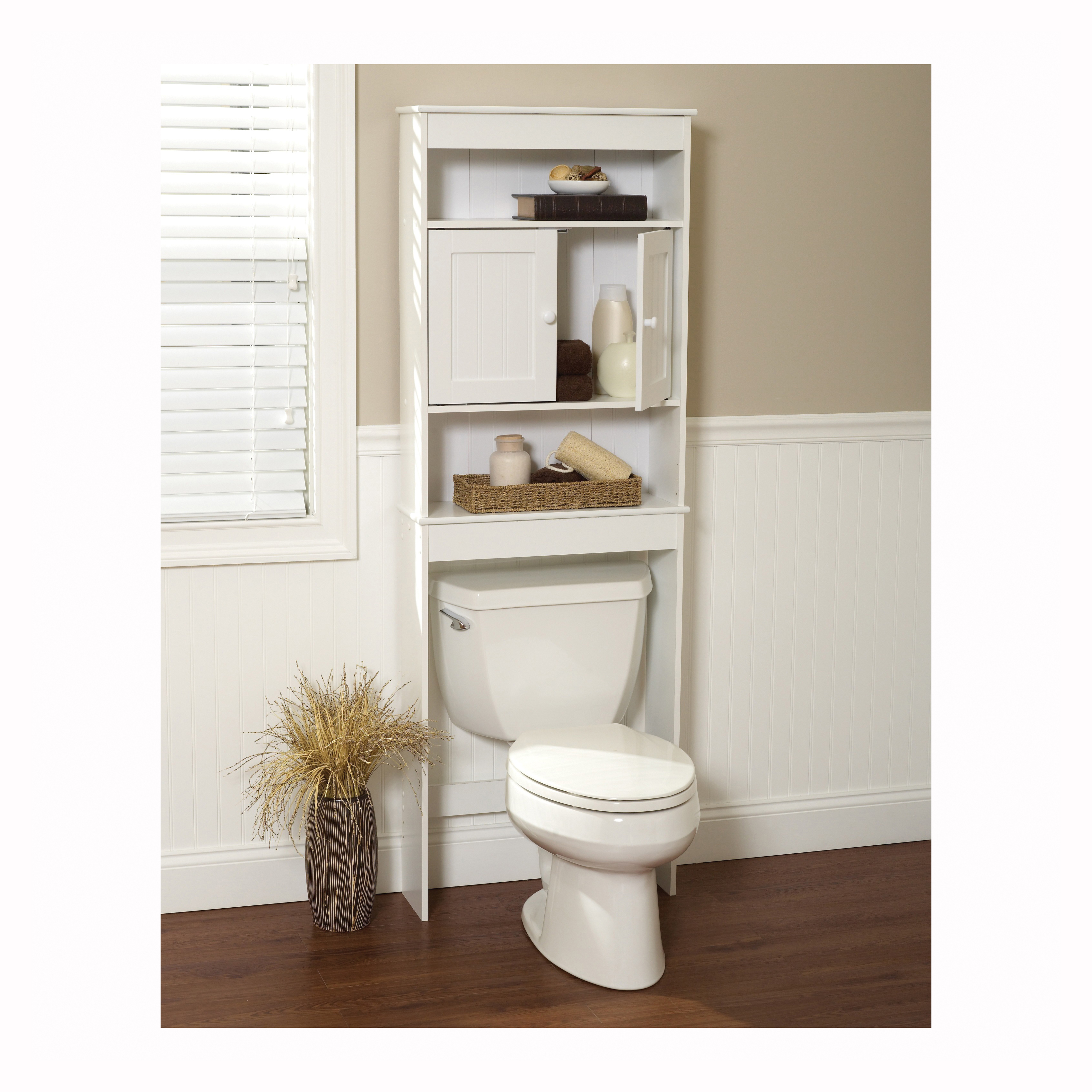 Picture of Zenna Home Cottage 9119W Bathroom Spacesaver, 3-Shelf, Wood