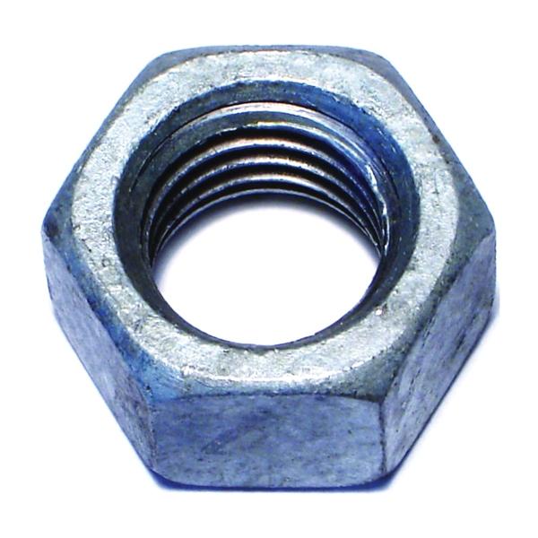 Picture of MIDWEST FASTENER 05619 Hex Nut, Coarse Thread, 5/8-11 in Thread, Galvanized