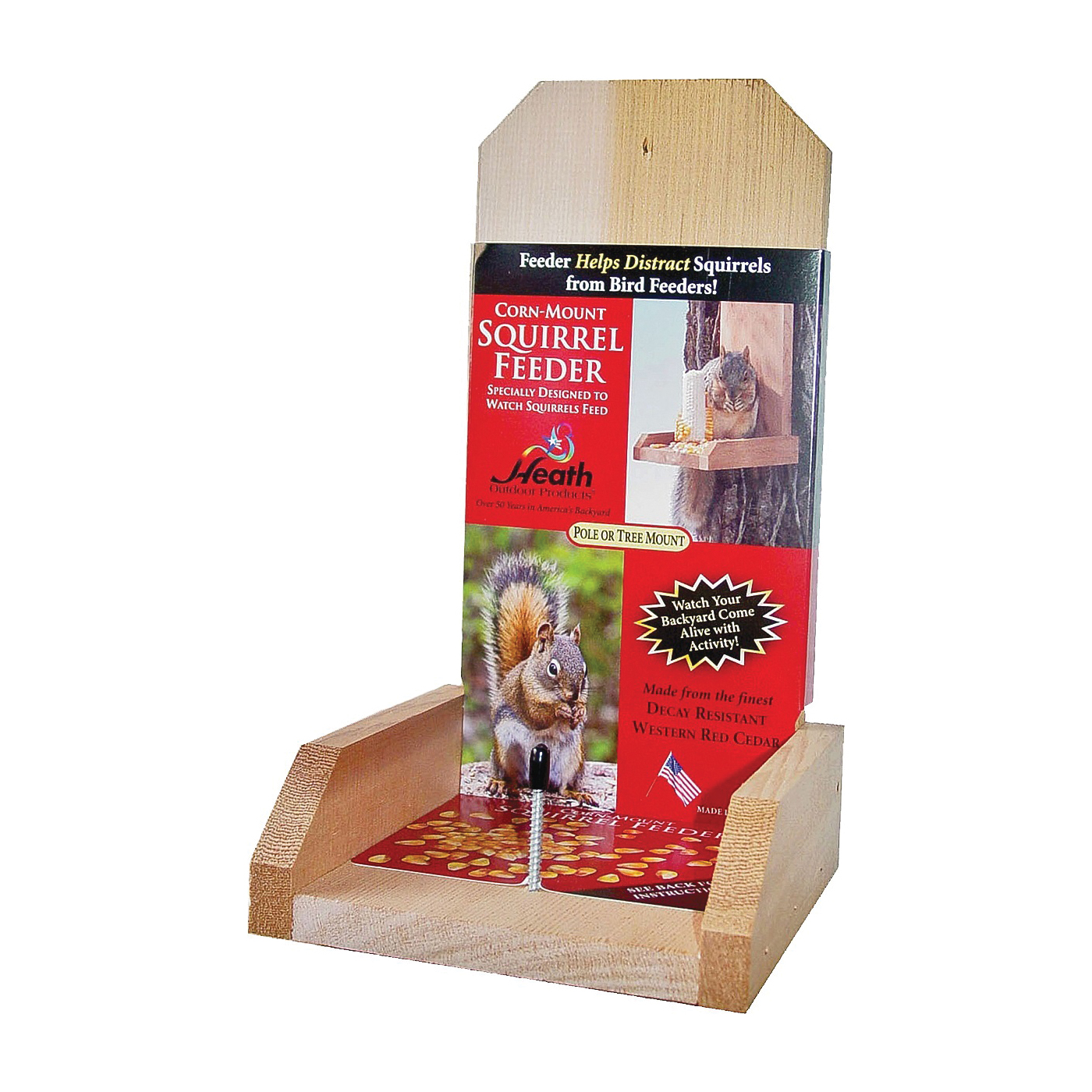 Picture of HEATH 903-2 Squirrel Feeder, Post Mounting