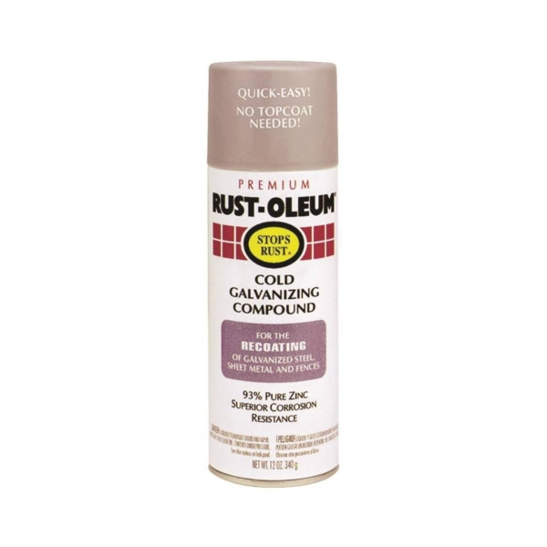 Picture of RUST-OLEUM STOPS RUST 7785830 Galvanizing Compound Spray, Gray, Matte, 16 oz