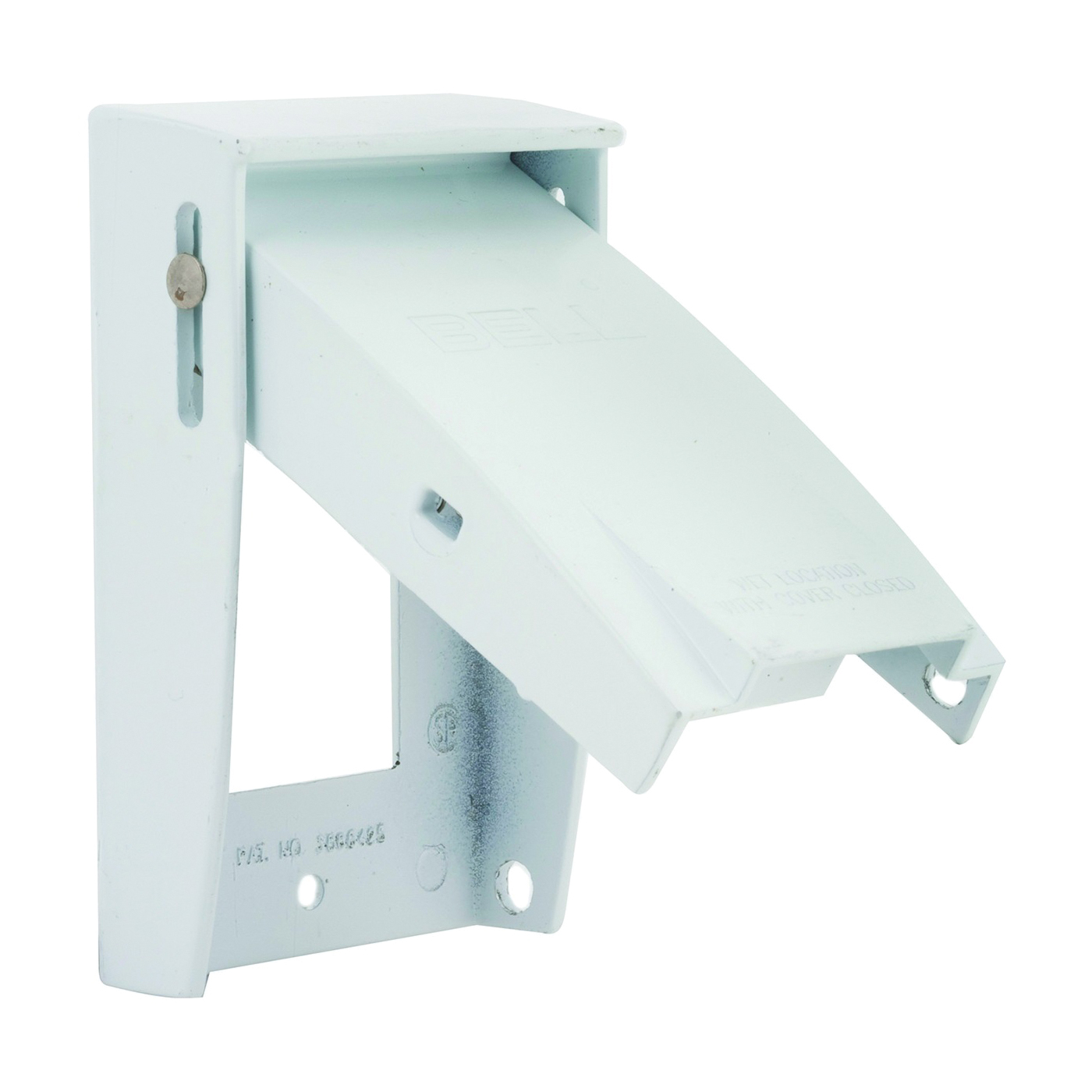 Picture of HUBBELL 5028-6 Cover, 4-1/2 in L, 2-3/4 in W, Aluminum, White, Powder-Coated