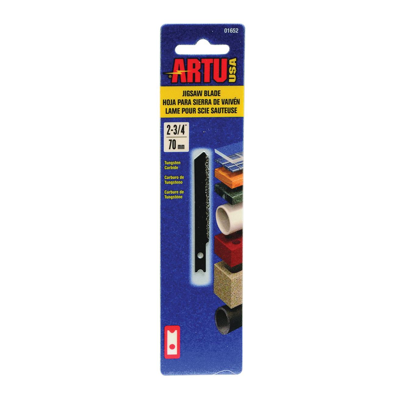 Picture of ARTU 01652 Jigsaw Blade, 2-3/4 in L, Tungsten Carbide Cutting Edge