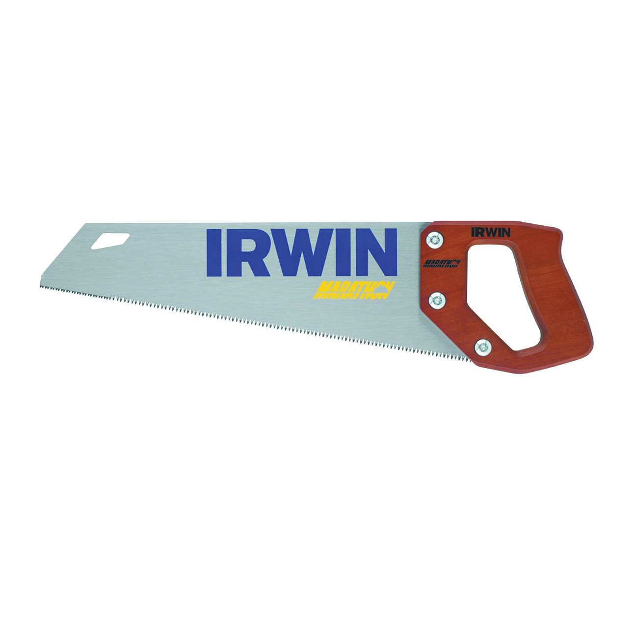 Picture of IRWIN 2011102 Coarse Cut Saw, 15 in L Blade, 9 TPI, Steel Blade, Hardwood Handle