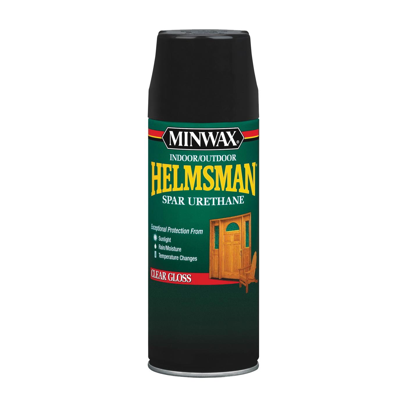 Picture of Minwax Helmsman 33250000 Spar Urethane Paint, Clear Gloss, Clear, Liquid, 11.5 oz, Aerosol Can