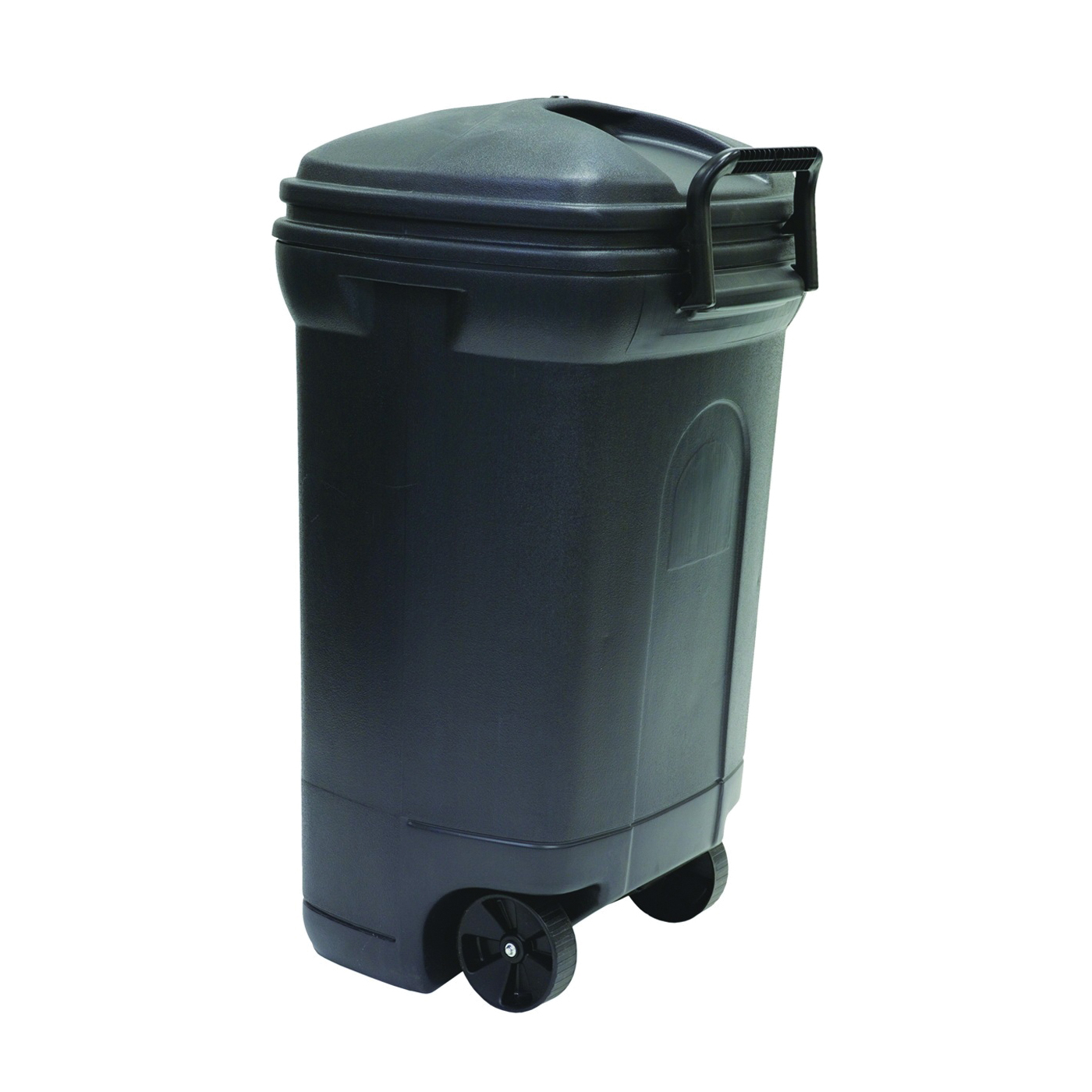 Picture of United Solutions TB0010 Trash Can, 34 gal Capacity, Plastic, Black, Top Lid Closure