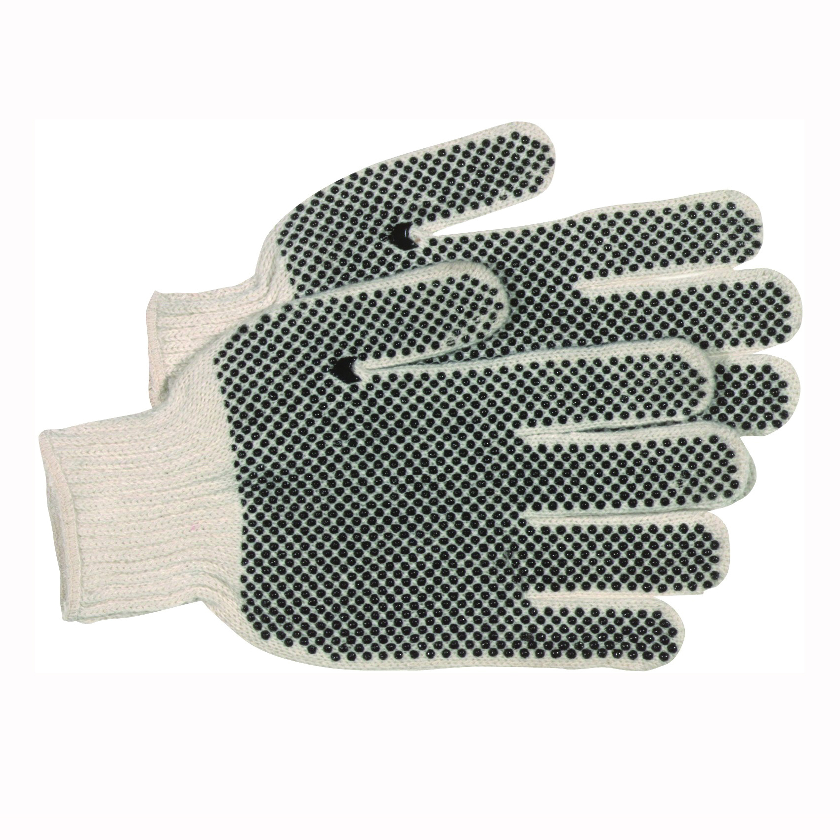 Picture of BOSS 5522L Reversible Protective Gloves, L, Knit Wrist Cuff, Cotton/Polyester, Black/White