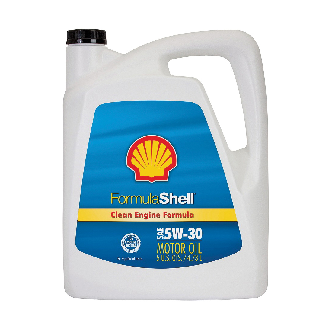 Picture of Formula Shell Clean Engine 550045245 Motor Oil, 5W-30, 5 qt Package, Bottle