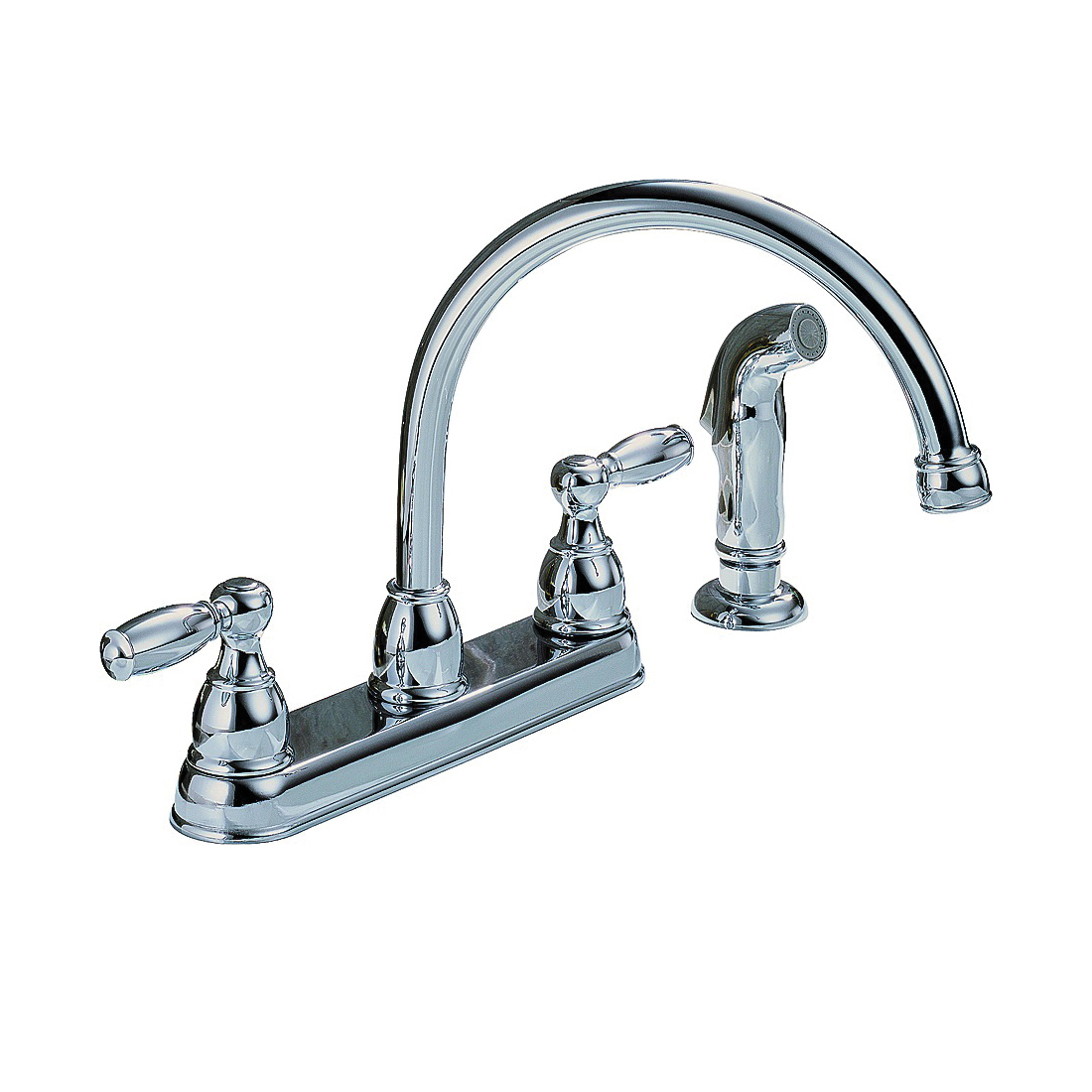 Picture of DELTA Peerless Claymore P299575LF Kitchen Faucet, 1.8 gpm, 2-Faucet Handle, Chrome, Deck Mounting, Lever Handle