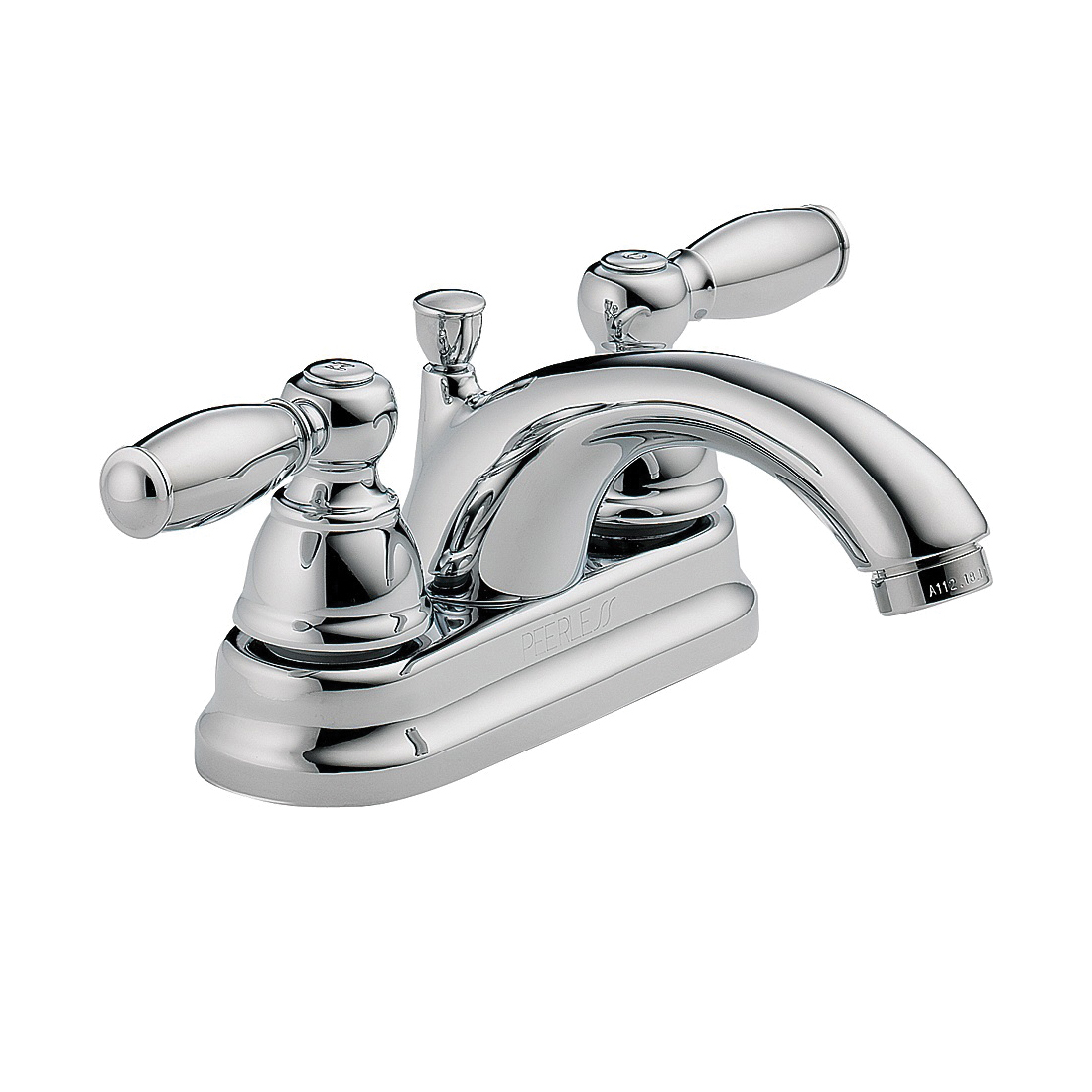 Picture of DELTA Peerless Claymore P299675LF Bathroom Faucet, 1.2 gpm, 2-Faucet Handle, Brass, Chrome, Lever Handle