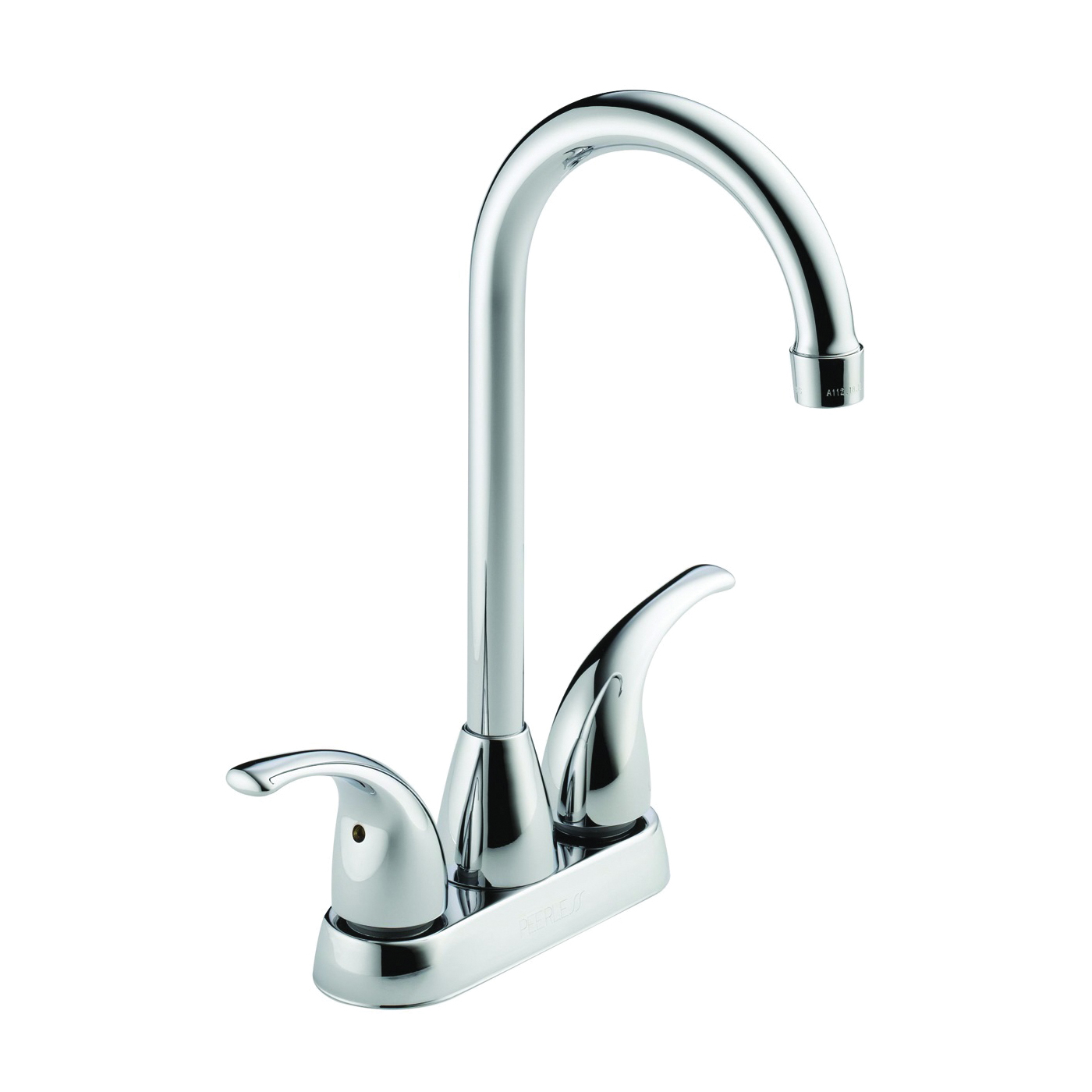 Picture of DELTA Peerless Tunbridge P288LF Bar-Prep Faucet, 1.8 gpm, 2-Faucet Handle, Brass, Chrome, Deck Mounting