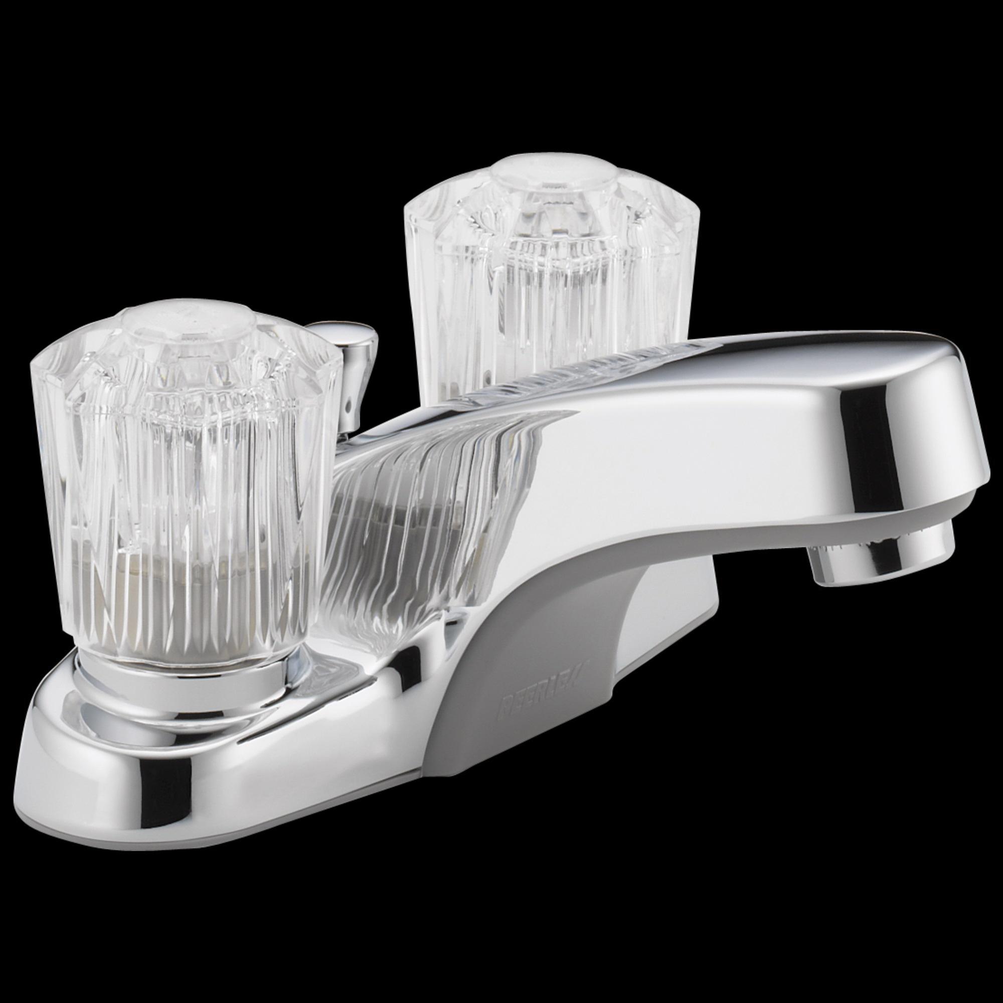 Picture of DELTA Peerless P245LF Bathroom Faucet, 1.2 gpm, 2-Faucet Handle, Metal, Chrome, Knob Handle, Standard Spout