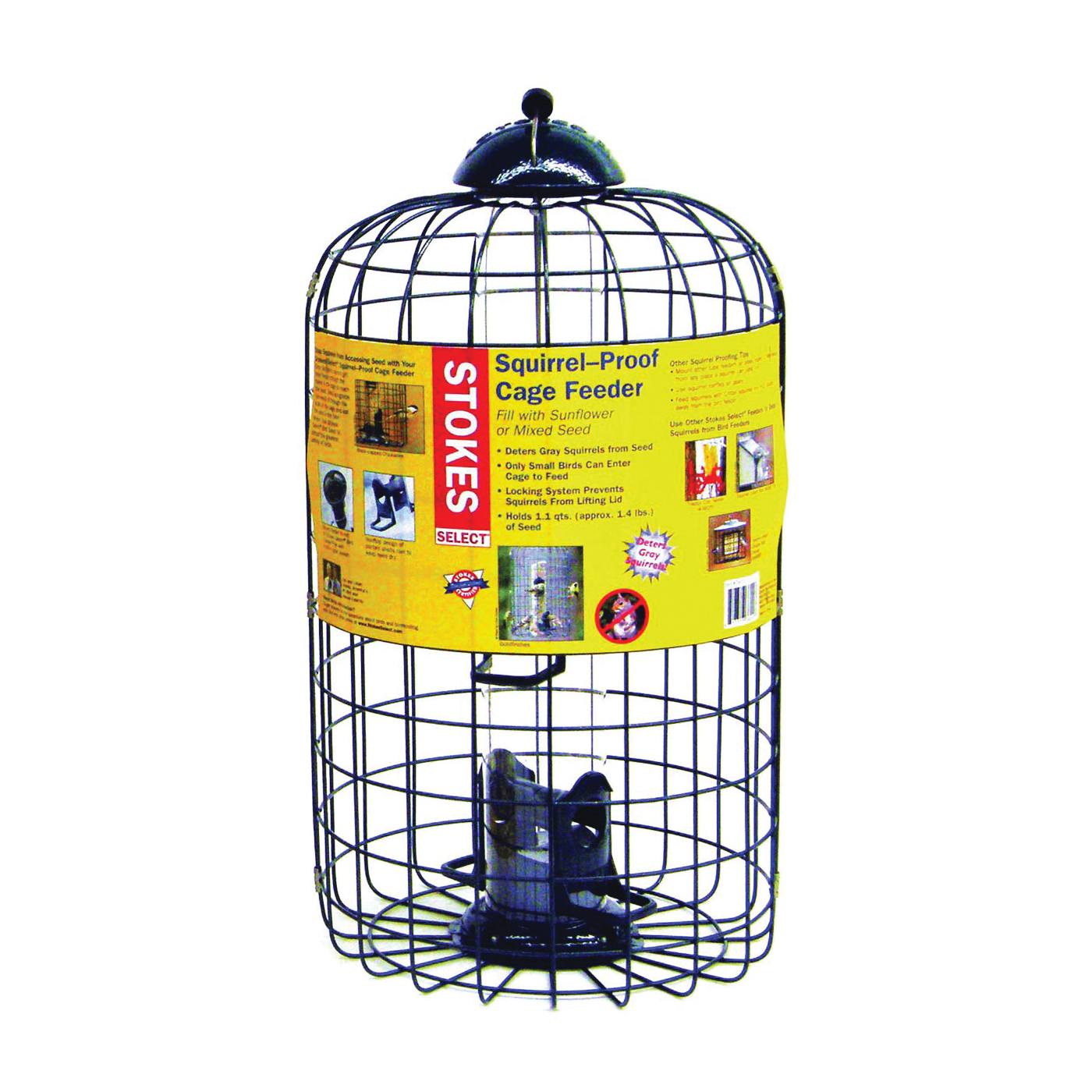 Picture of Stokes Select 38002 Wild Bird Feeder, 17-13/16 in H, 1.1 qt, Black, Hanging Mounting