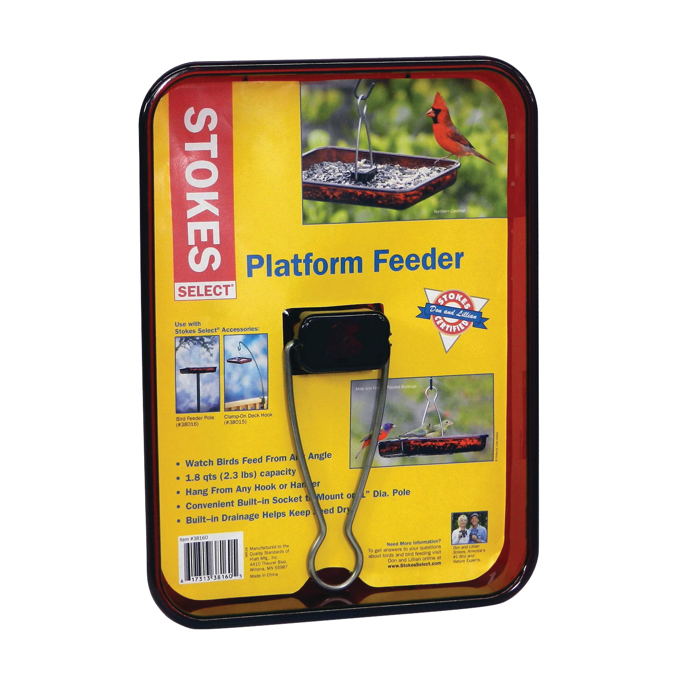 Picture of Stokes Select 38160 Platform Bird Feeder, 2.3 lb, Polycarbonate, 1-33/64 in H