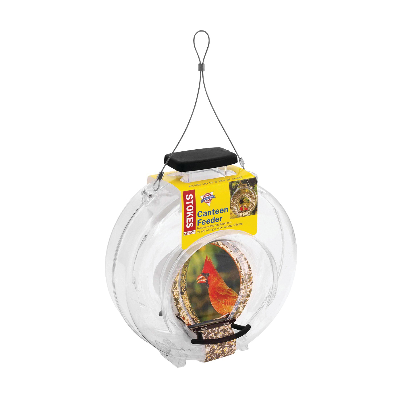 Picture of Stokes Select 38236 Canteen Hopper Feeder, Plastic/Polystyrene, 12-13/64 in H, Hanging Mounting