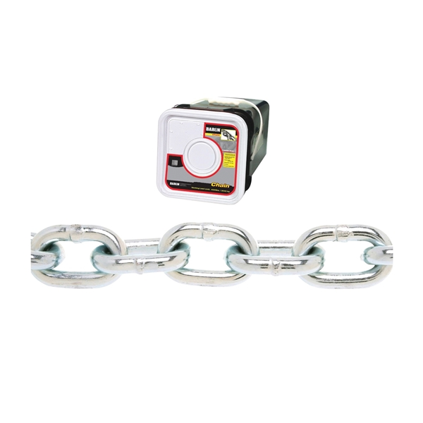 Picture of BARON PC30516SP Proof Coil Chain, 5/16 in Trade, 75 ft L, 30 Grade, Steel, Zinc