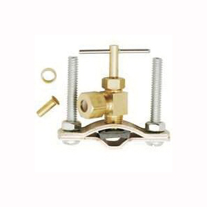 Picture of Plumb Pak PP855-2LF Saddle Valve, 1/4 in OD Connection, Brass Body, Chrome