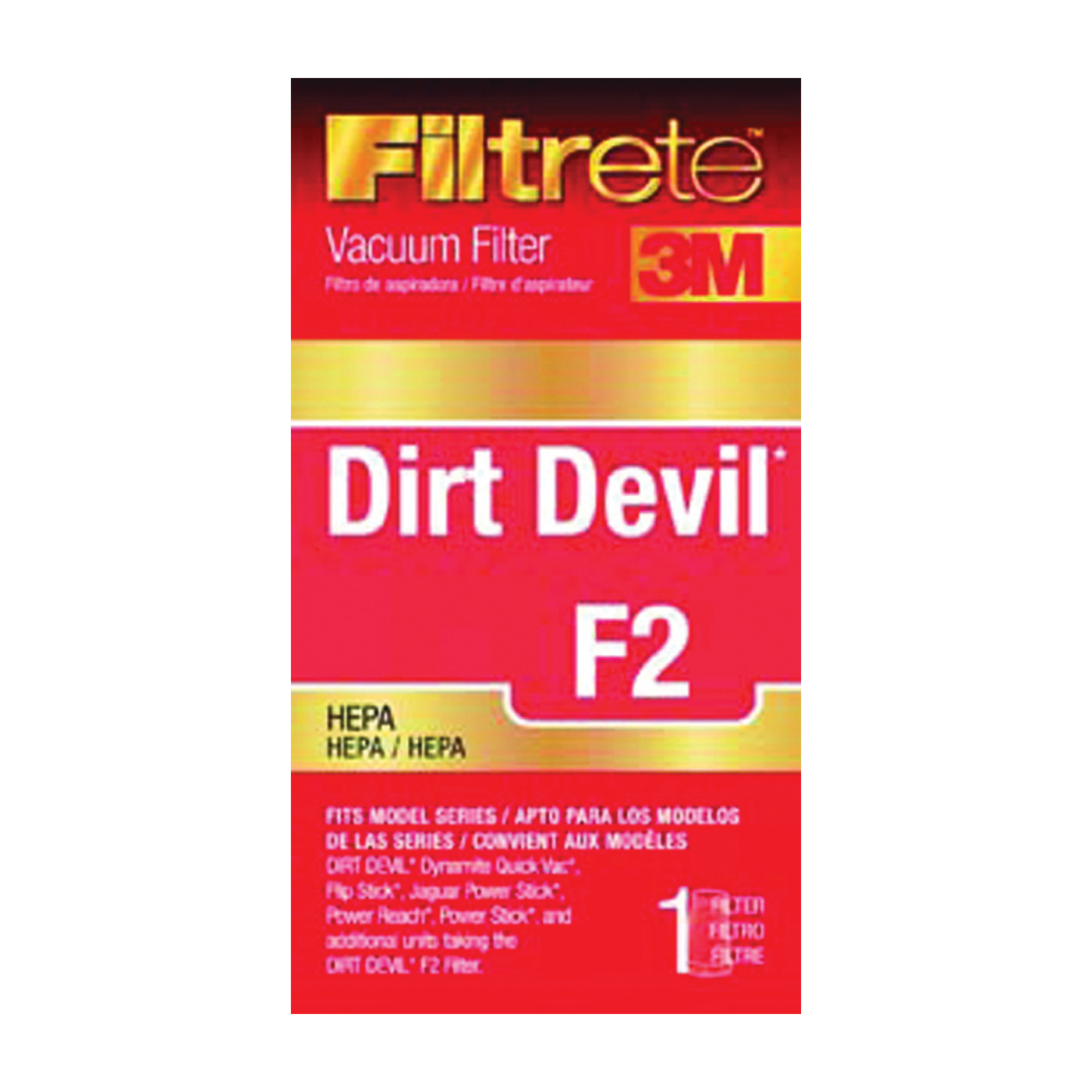 Picture of Filtrete 65802A-4 Vacuum Cleaner Filter