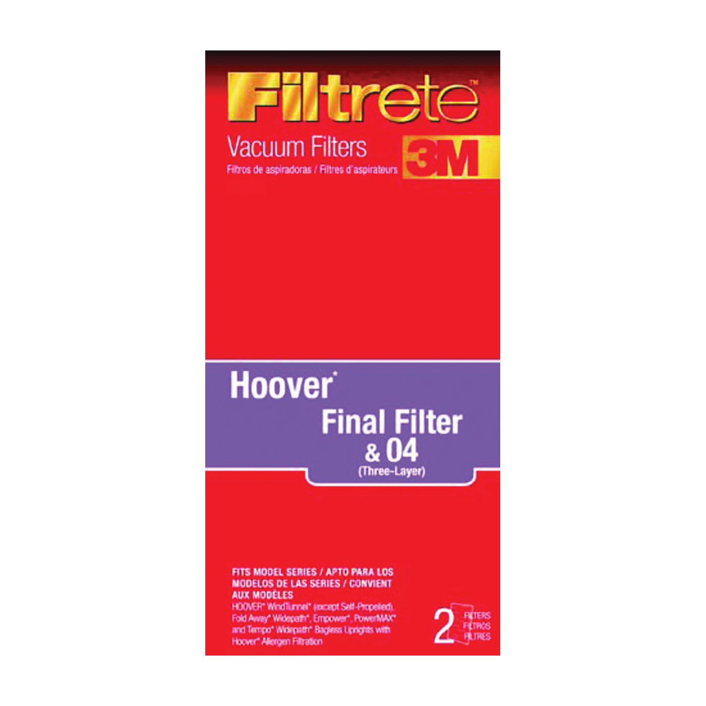 Picture of Filtrete 64802A-4 Vacuum Cleaner Filter