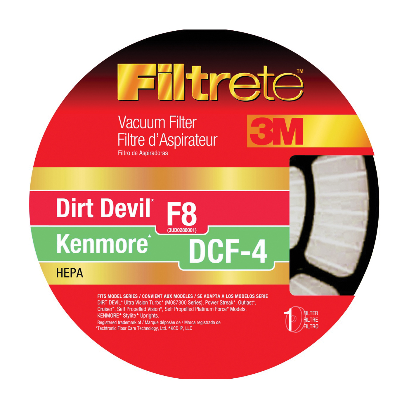Picture of Filtrete 65808-4 Vacuum Cleaner Filter