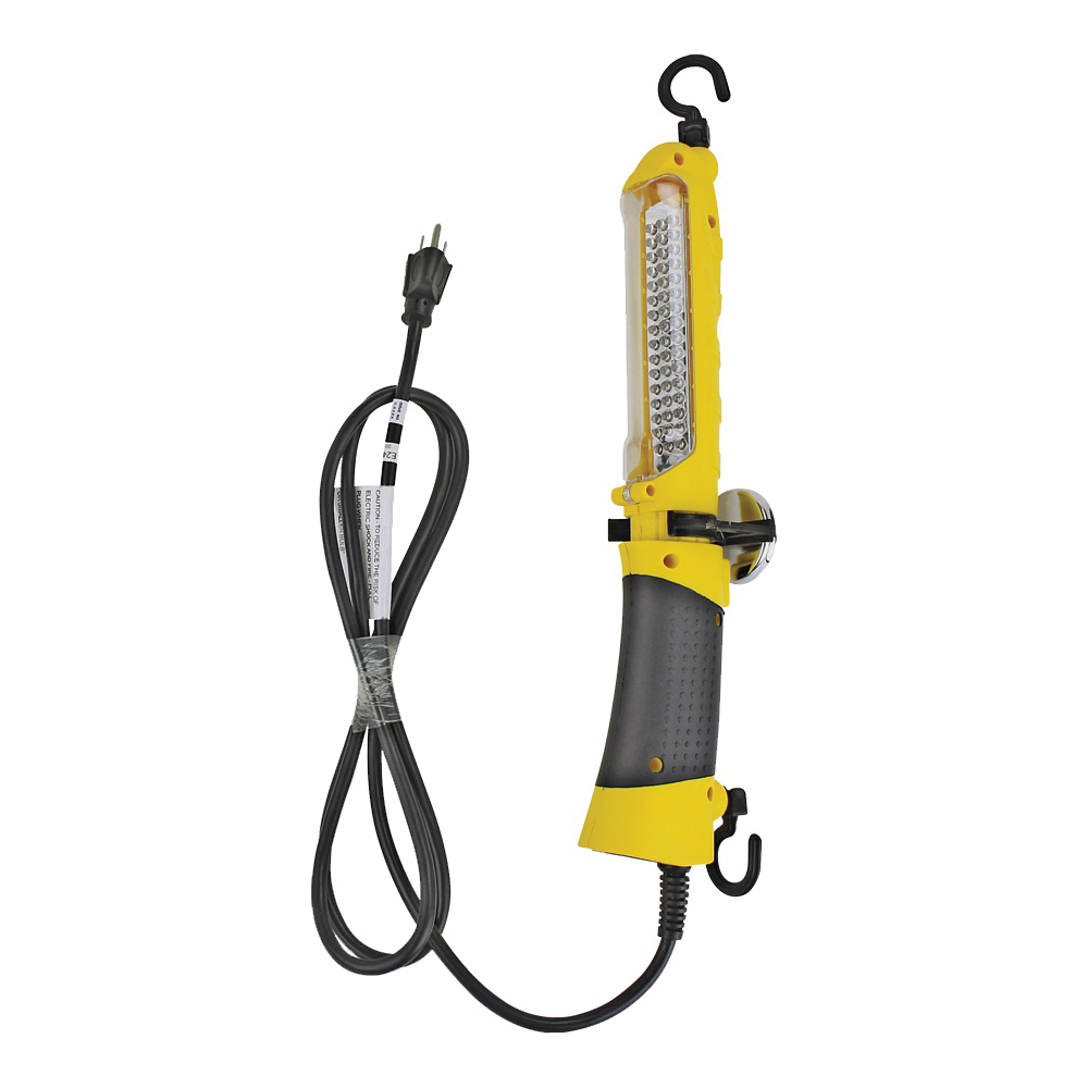 Picture of PowerZone ORTLLED48606 Drop Light, 120 V, LED Lamp, 6 ft L Cord, Yellow
