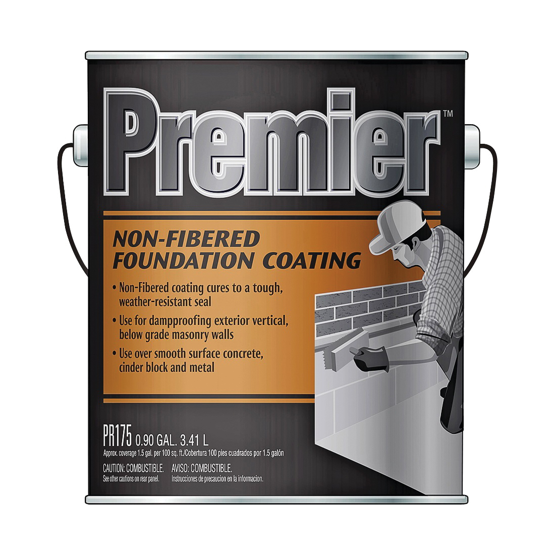 Picture of Henry PR175042 Foundation Coating, Black, Liquid, 0.9 gal Package, Pail