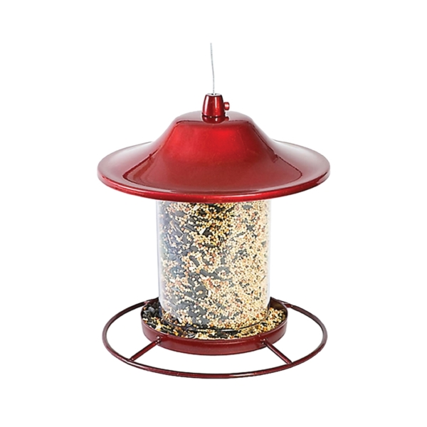 Picture of Perky-Pet 312R Panorama Bird Feeder, 9 in H, Perch, 2 lb, Red, Powder-Coated Red Sparkle