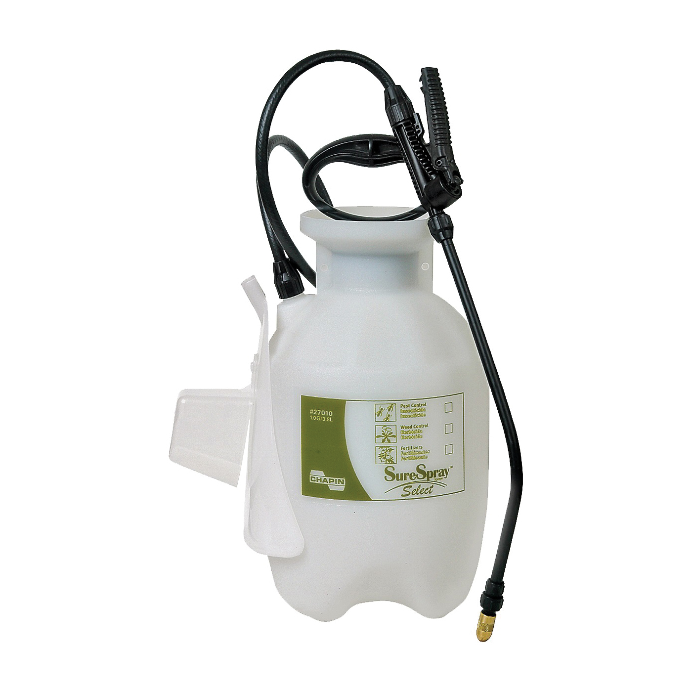 Picture of CHAPIN SureSpray 27010 Compression Sprayer, 1 gal Tank, Poly Tank, 34 in L Hose