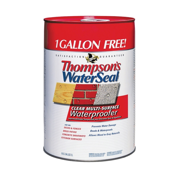 Picture of Thompson's WaterSeal TH.024106-06 Waterproofer, Clear, 6 gal, Can