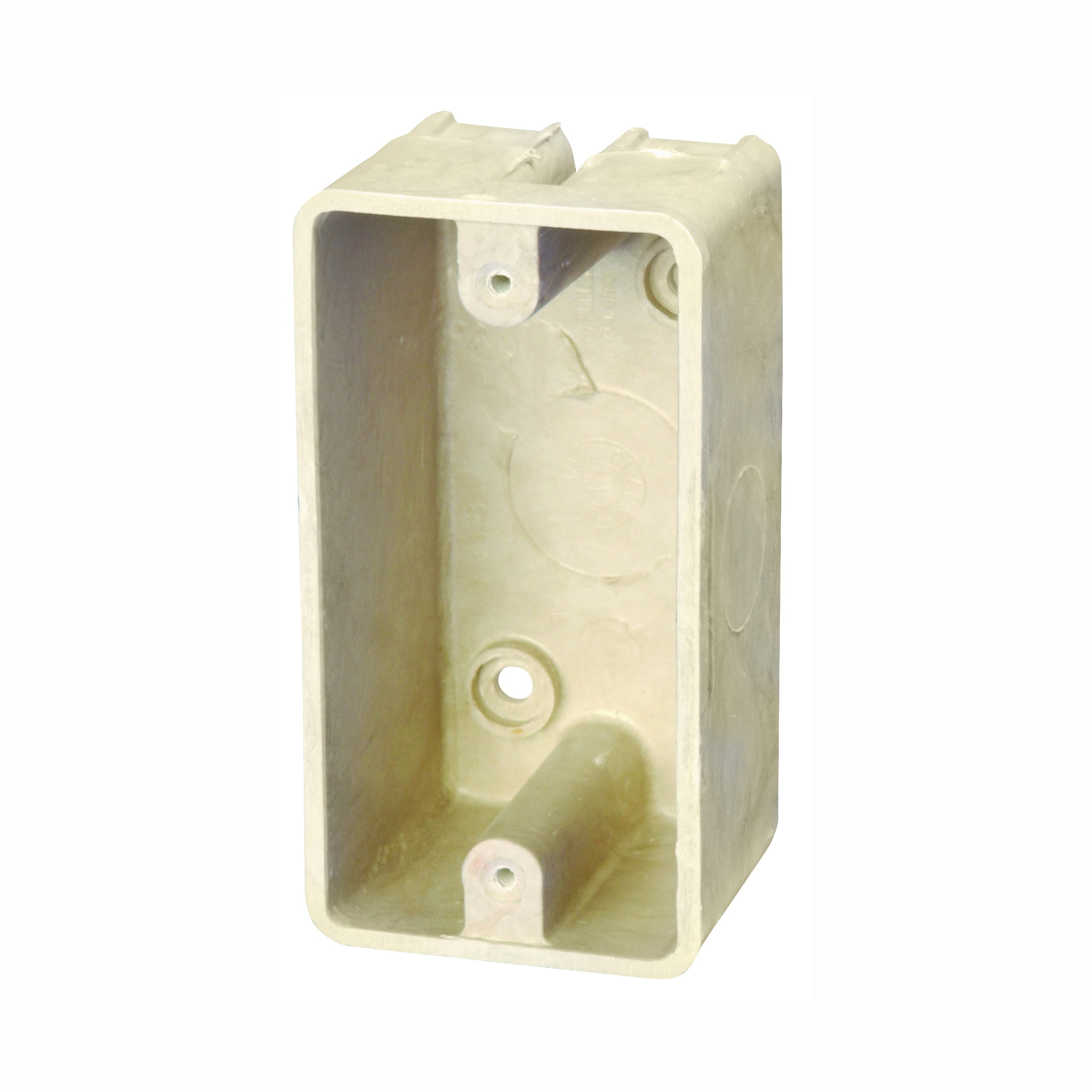 Picture of Allied Moulded FiberglassBOX 9318 Electrical Box, 1-Gang, 4-Knockout, Thermoset Fiberglass, Beige/Tan