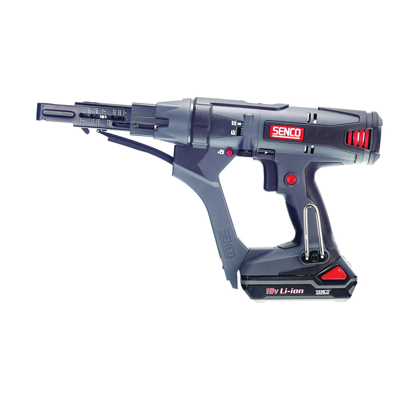 Picture of SENCO 7Y0001N Collated Screwdriver, Kit, 18 V Battery, 1.5 Ah, 1/4 in Chuck, Hexagonal Chuck, 2500 rpm Speed