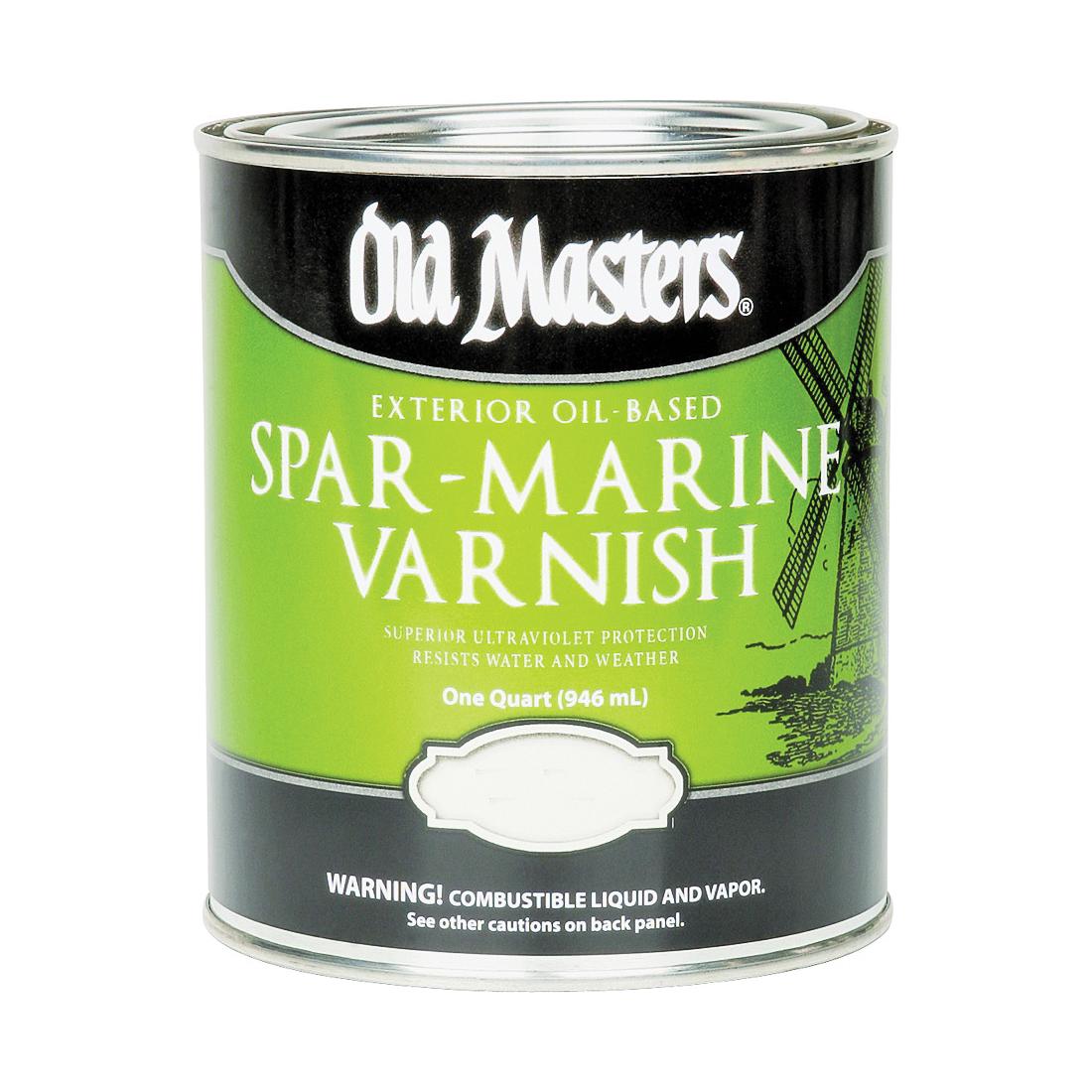 Picture of Old Masters 92304 Spar Marine Varnish, Satin, Liquid, 4 qt, Can