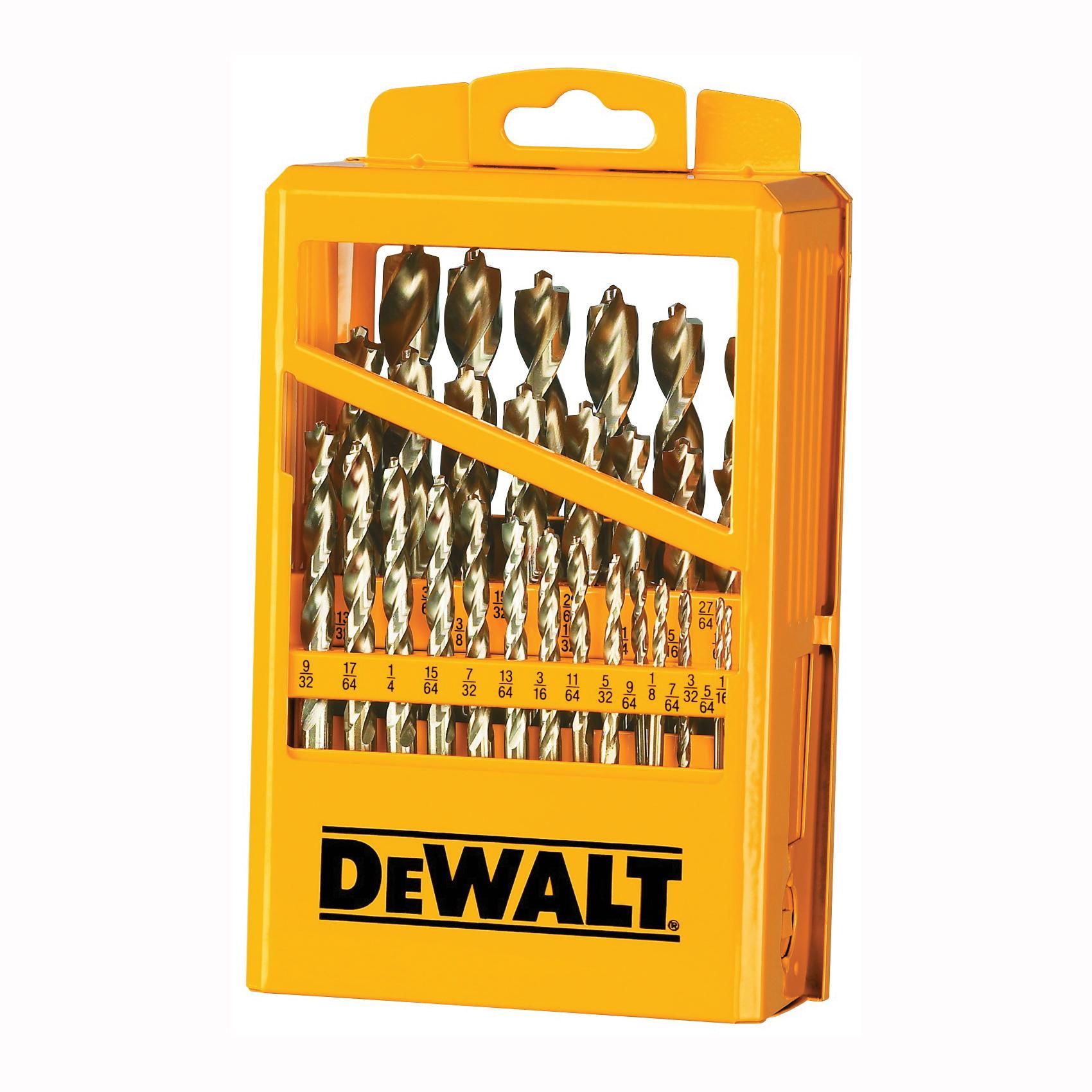Picture of DeWALT DW1969 Drill Bit Set, High-Performance, 29 -Piece, Steel, Ferrous Oxide