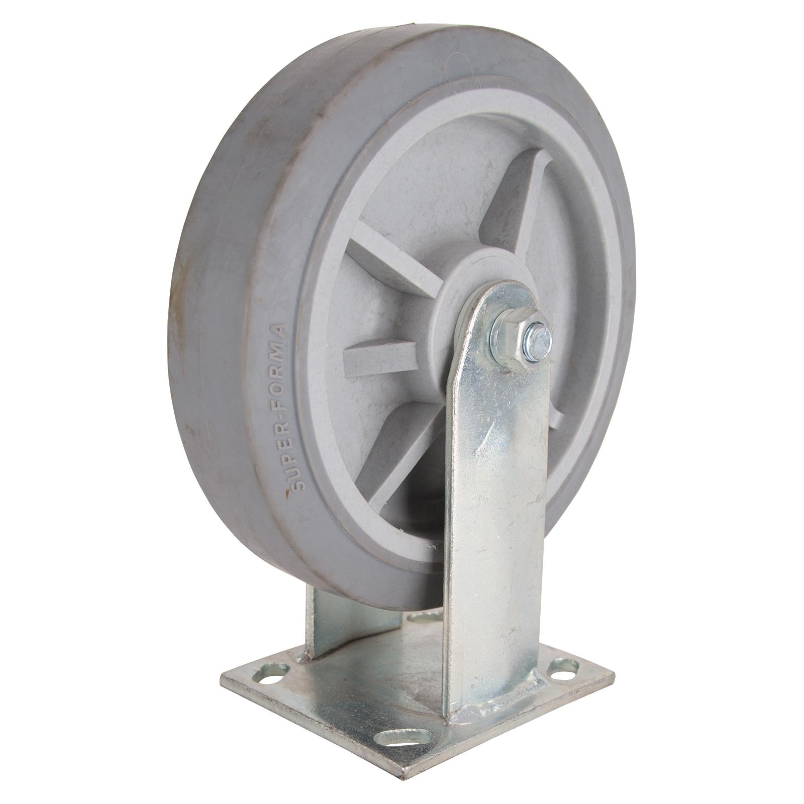 Picture of ProSource JC-T07 Rigid Caster, 8 in Dia Wheel, 2 in W Wheel, Thermoplastic Rubber Wheel, 750 lb