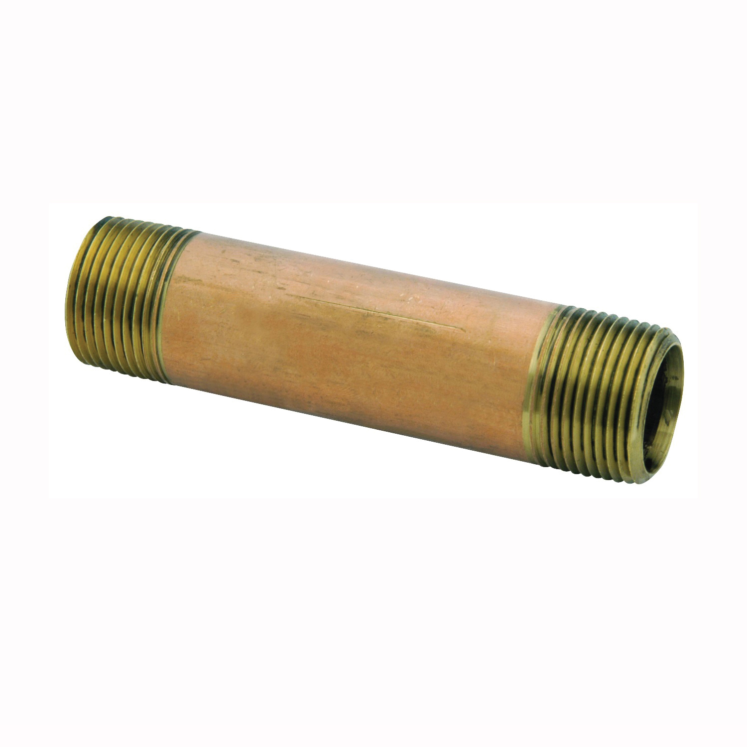 Picture of Anderson Metals 38300-0460 Pipe Nipple, 1/4 in, NPT, Brass, 870 psi Pressure, 6 in L
